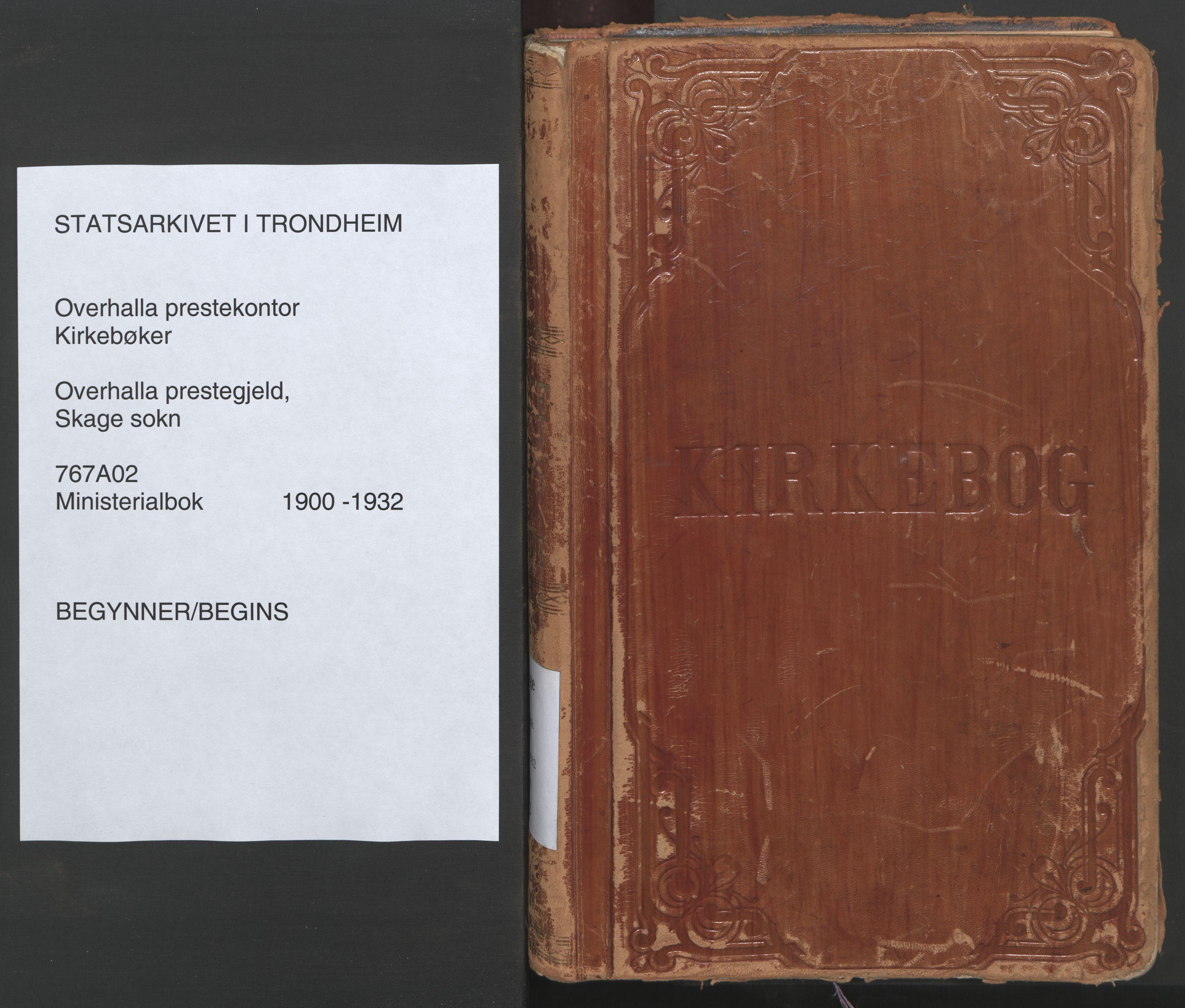SAT, Ministerialprotokoller, klokkerbøker og fødselsregistre - Nord-Trøndelag, 766/L0564: Ministerialbok nr. 767A02, 1900-1932