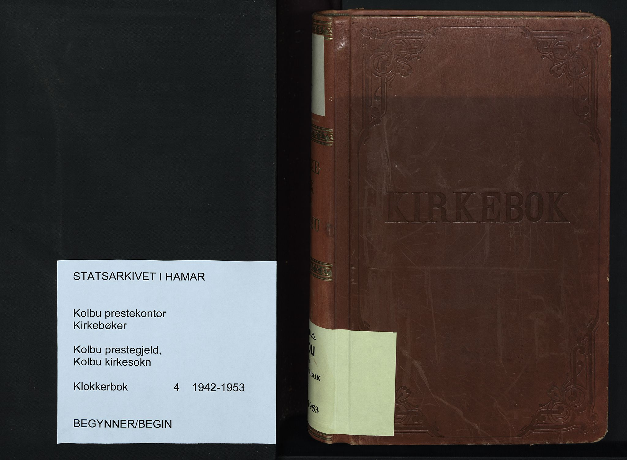 SAH, Kolbu prestekontor, Klokkerbok nr. 4, 1942-1953