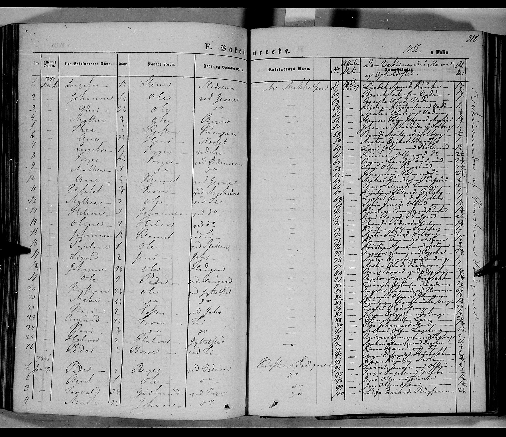 SAH, Øyer prestekontor, Ministerialbok nr. 5, 1842-1857, s. 318