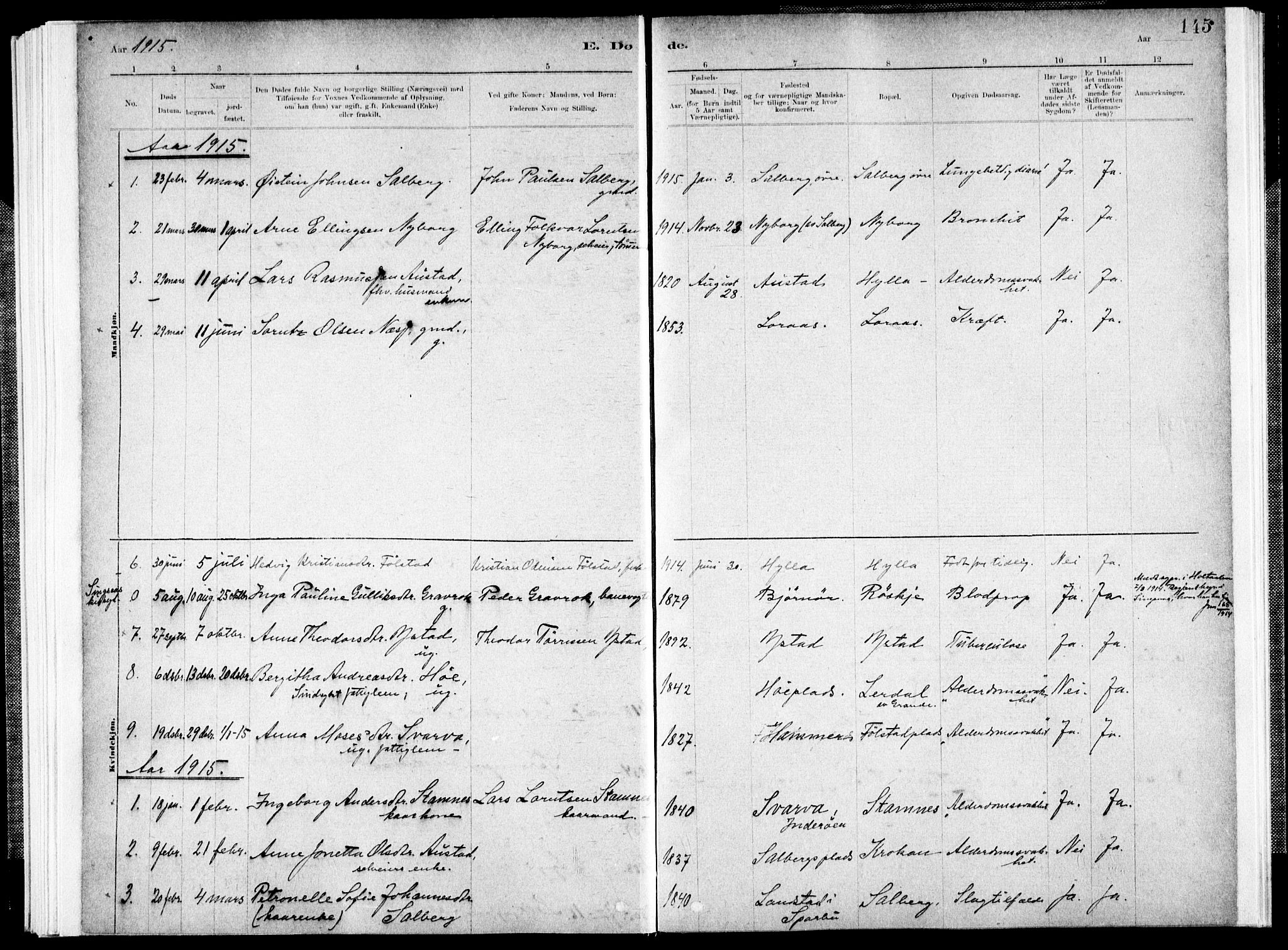 SAT, Ministerialprotokoller, klokkerbøker og fødselsregistre - Nord-Trøndelag, 731/L0309: Ministerialbok nr. 731A01, 1879-1918, s. 145
