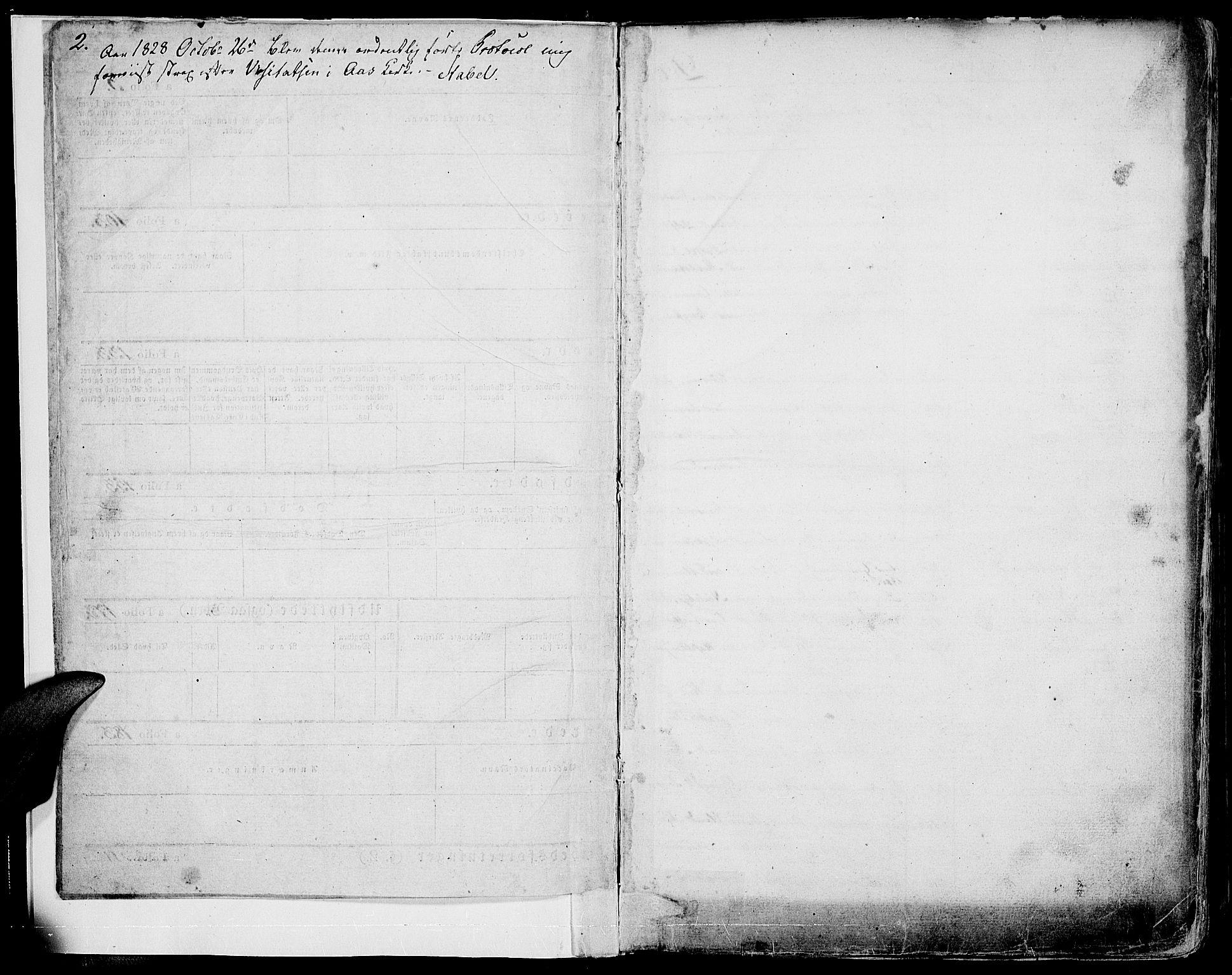 SAH, Vestre Toten prestekontor, Ministerialbok nr. 2, 1825-1837, s. 2