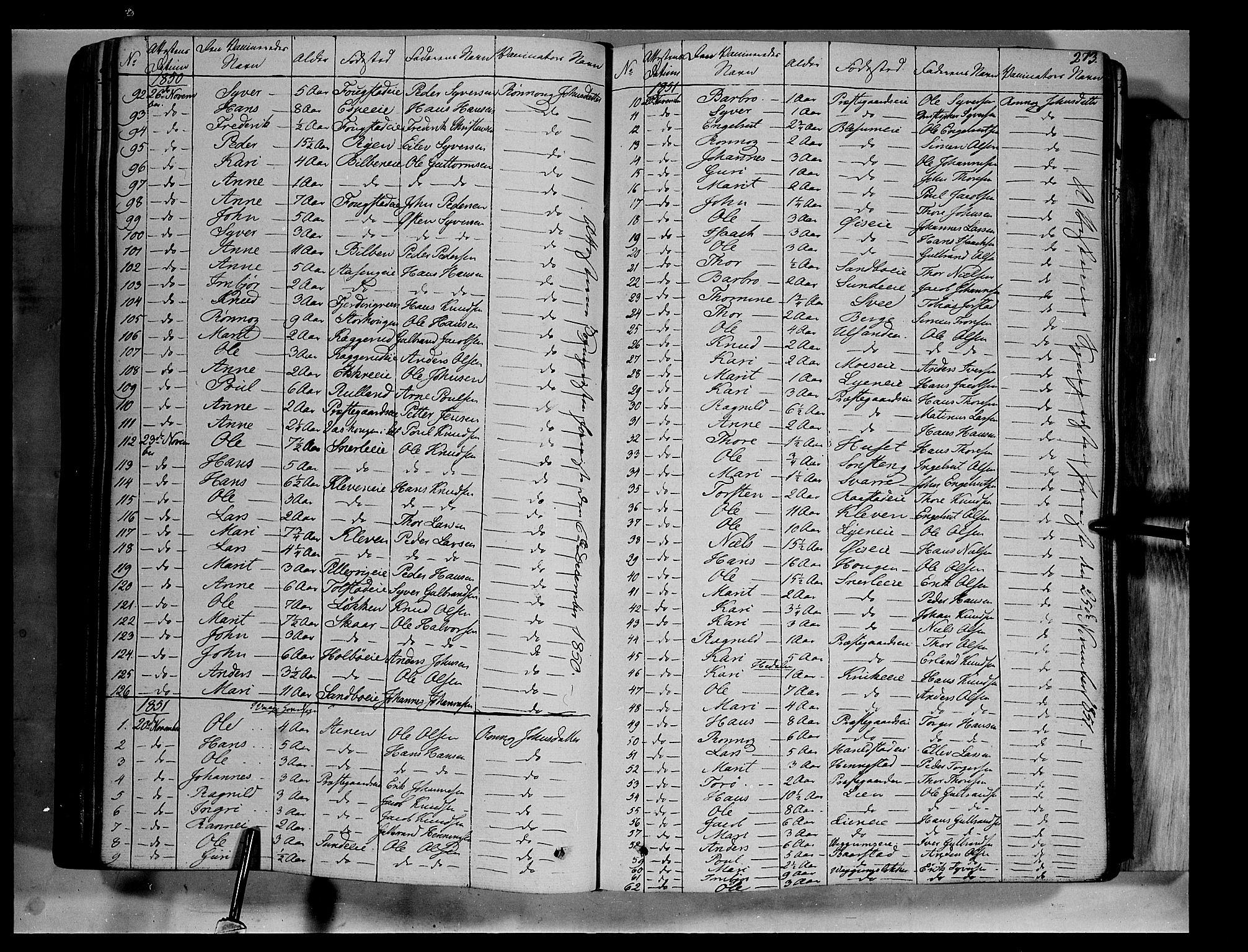 SAH, Vågå prestekontor, Ministerialbok nr. 5 /1, 1842-1856, s. 273