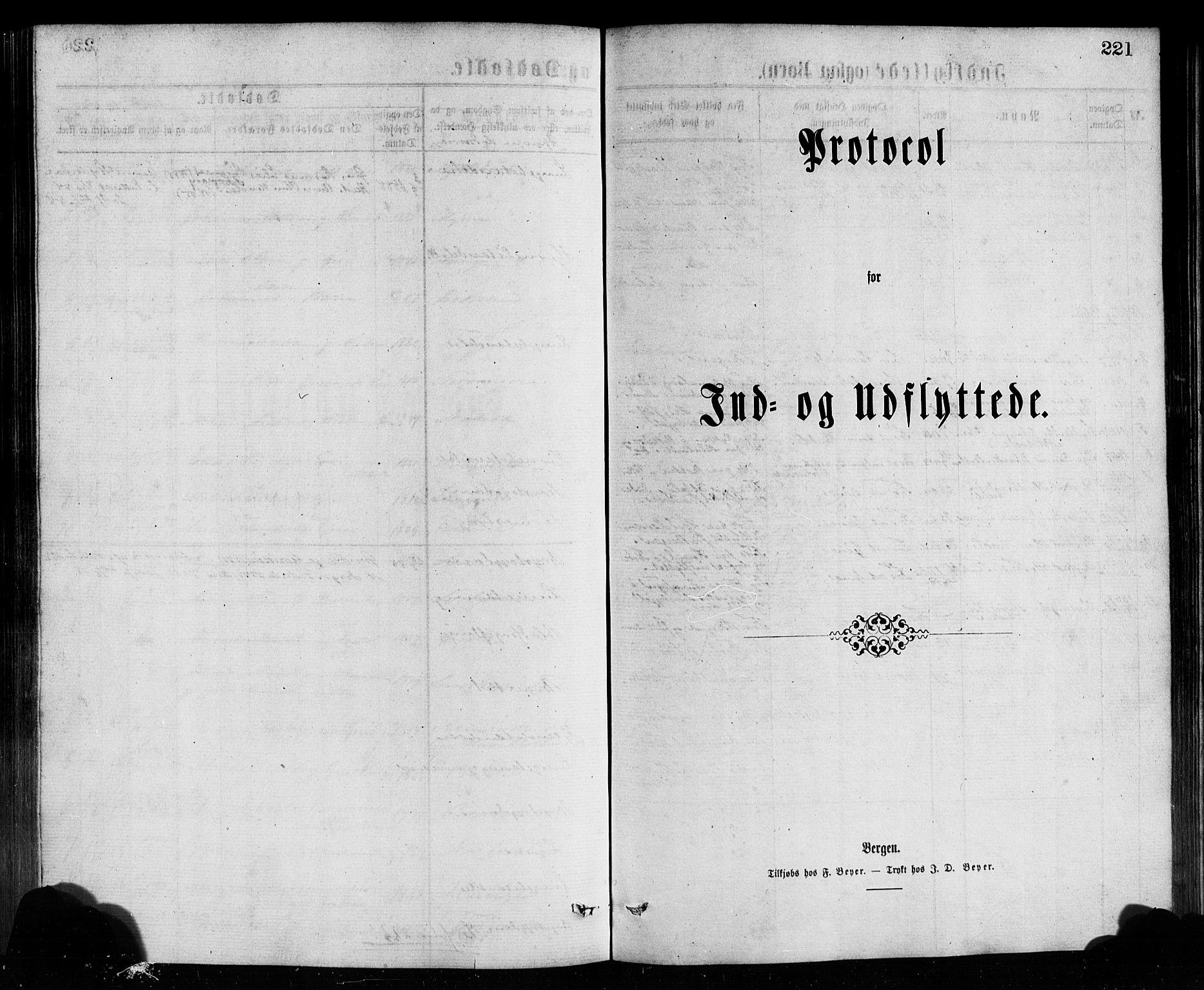SAB, Bremanger Sokneprestembete, H/Hab: Klokkerbok nr. A 2, 1866-1889, s. 221