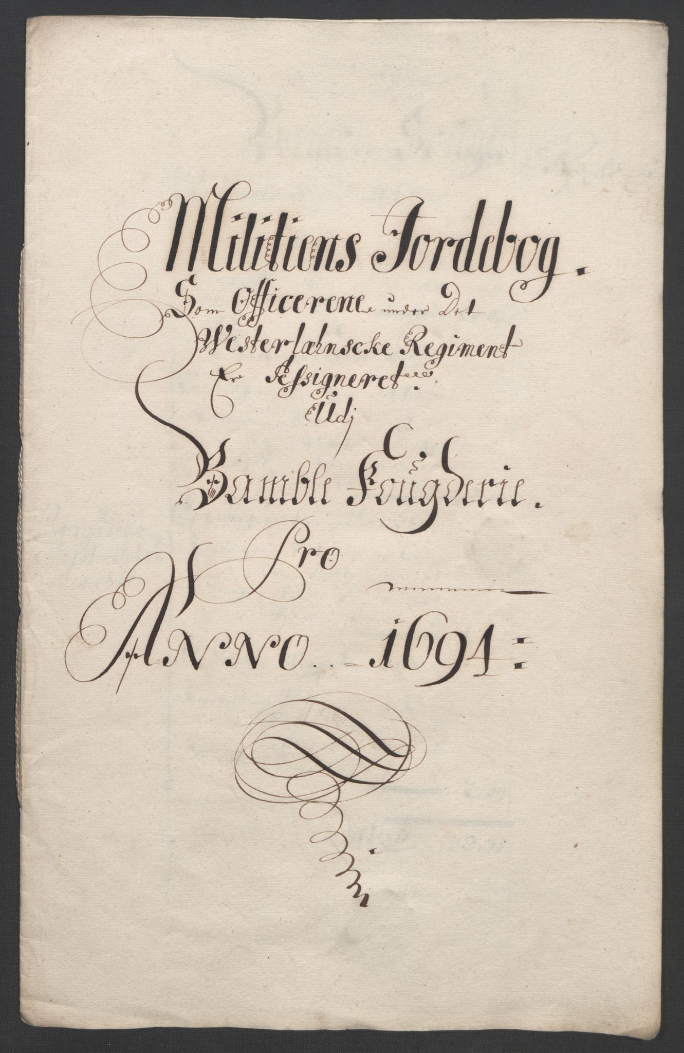 RA, Rentekammeret inntil 1814, Reviderte regnskaper, Fogderegnskap, R36/L2092: Fogderegnskap Øvre og Nedre Telemark og Bamble, 1694, s. 230