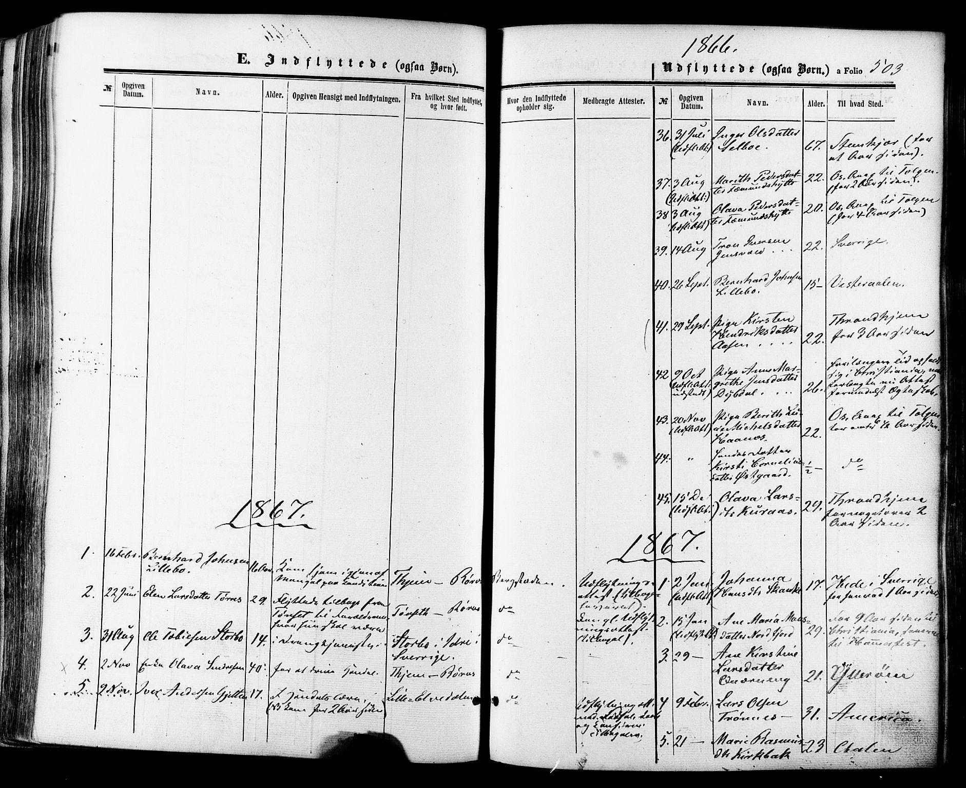 SAT, Ministerialprotokoller, klokkerbøker og fødselsregistre - Sør-Trøndelag, 681/L0932: Ministerialbok nr. 681A10, 1860-1878, s. 503