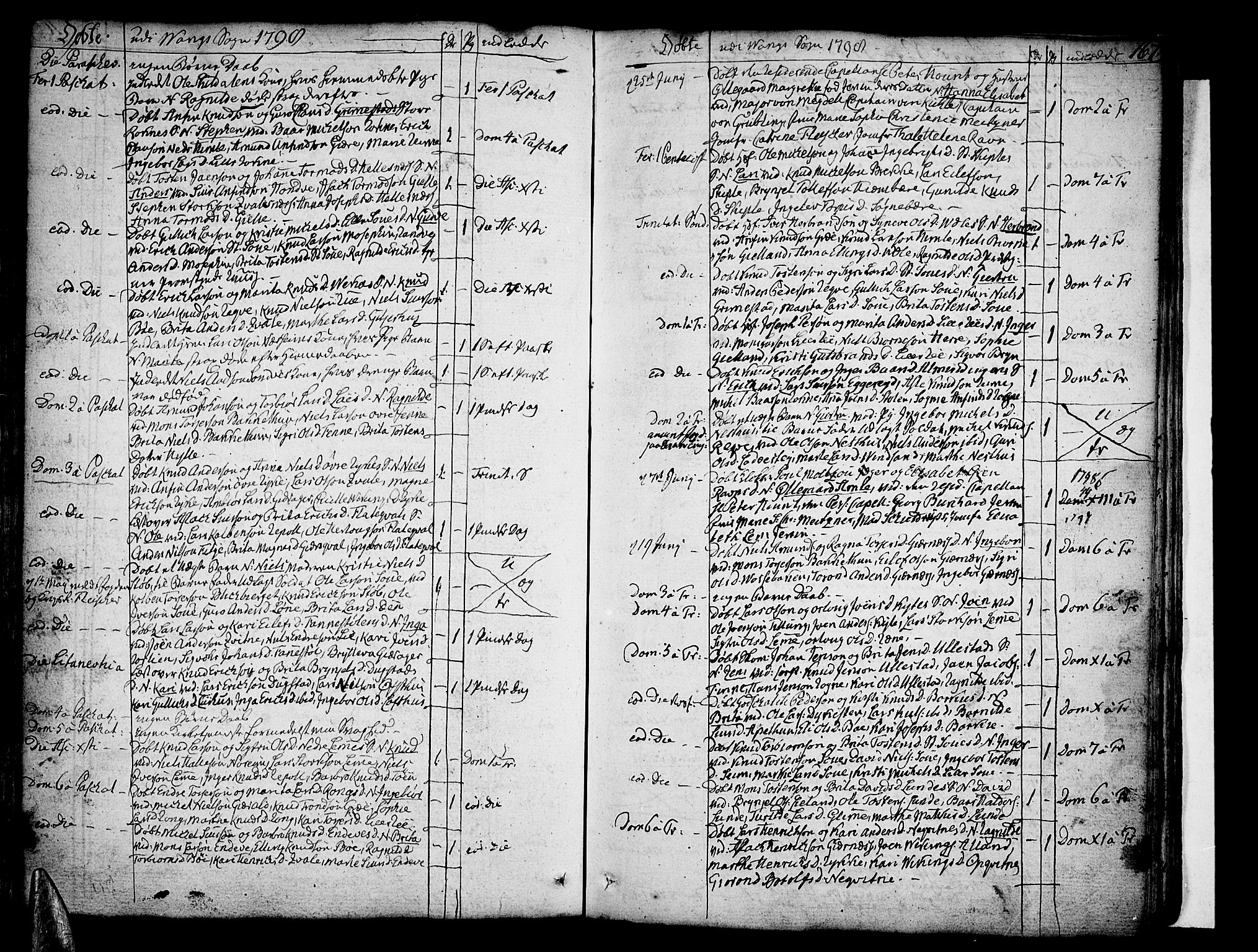 SAB, Voss Sokneprestembete, H/Haa: Ministerialbok nr. A 9, 1780-1810, s. 167