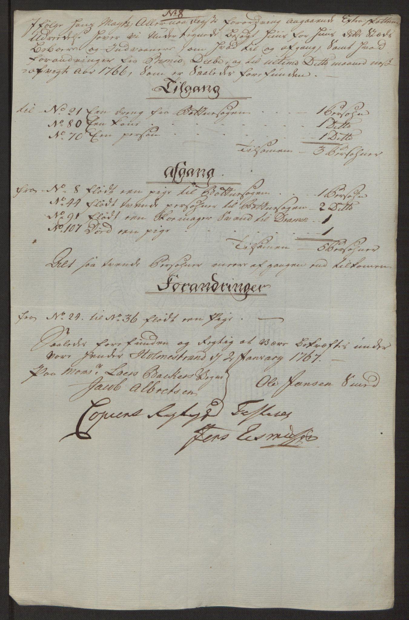 RA, Rentekammeret inntil 1814, Reviderte regnskaper, Byregnskaper, R/Rh/L0163: [H4] Kontribusjonsregnskap, 1762-1772, s. 320