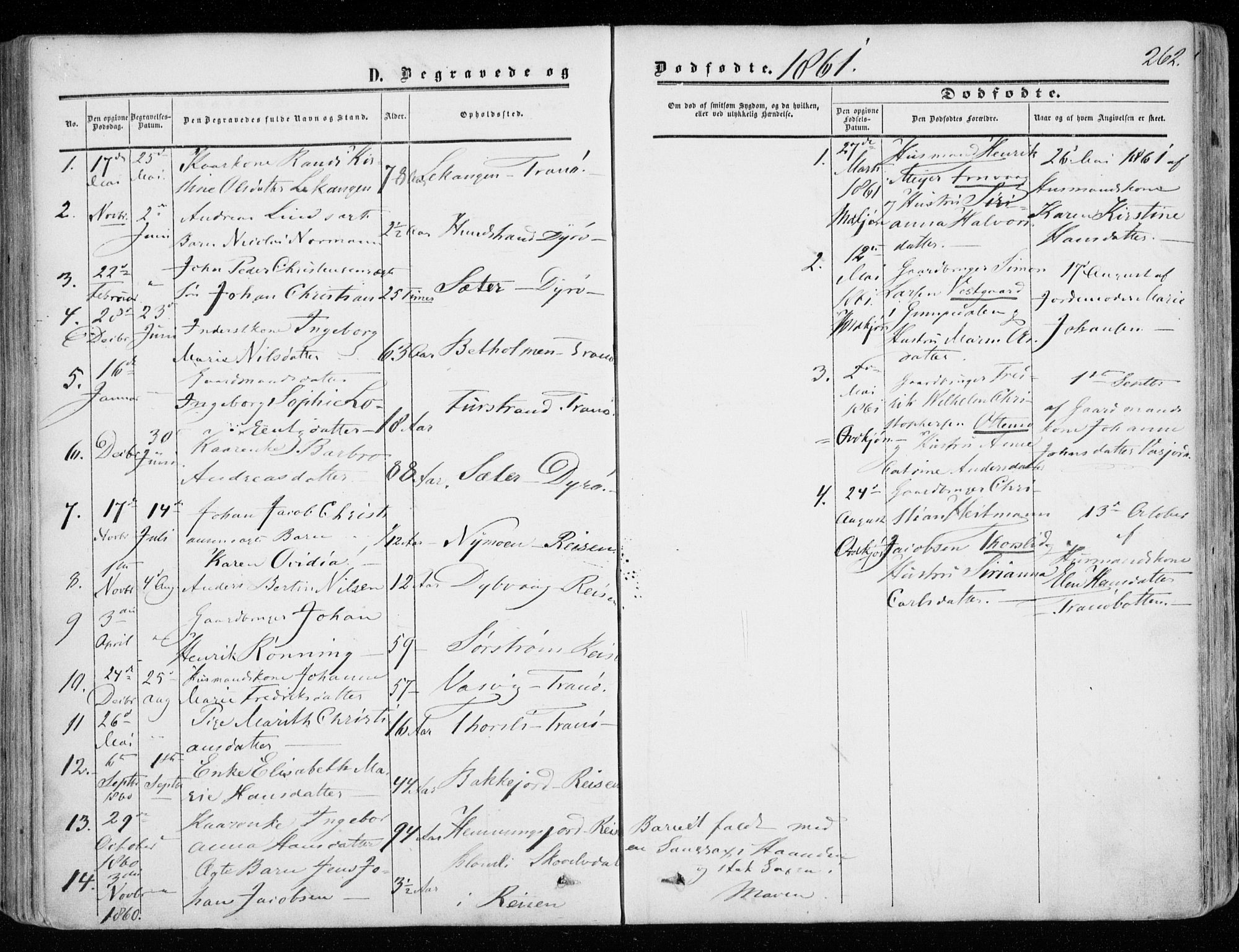 SATØ, Tranøy sokneprestkontor, I/Ia/Iaa/L0007kirke: Ministerialbok nr. 7, 1856-1866, s. 262