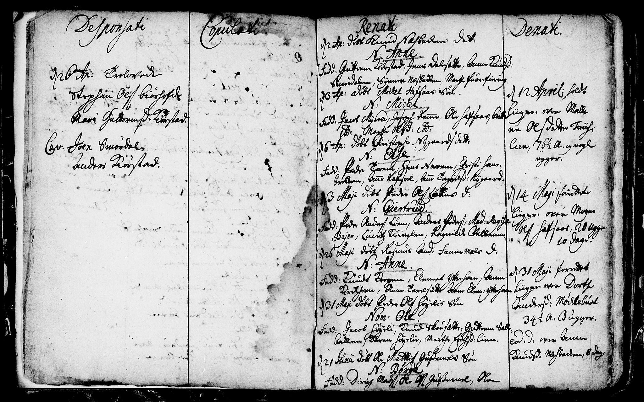 SAB, Eid Sokneprestembete, H/Haa: Ministerialbok nr. A 1, 1722-1740, s. 4