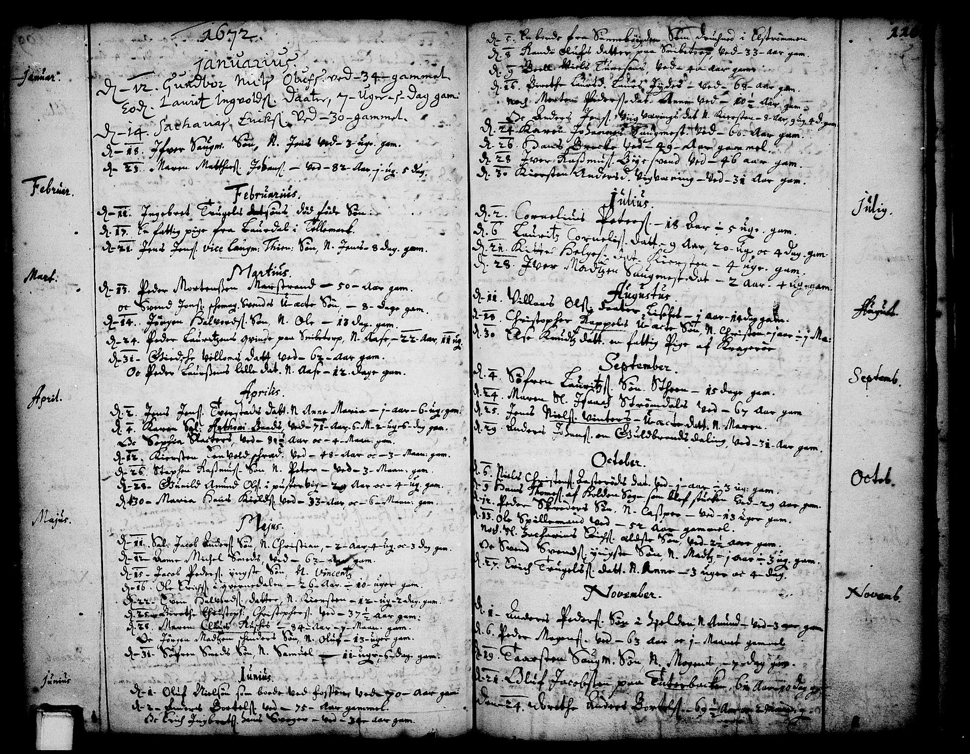 SAKO, Skien kirkebøker, F/Fa/L0001: Ministerialbok nr. 1, 1659-1679, s. 110