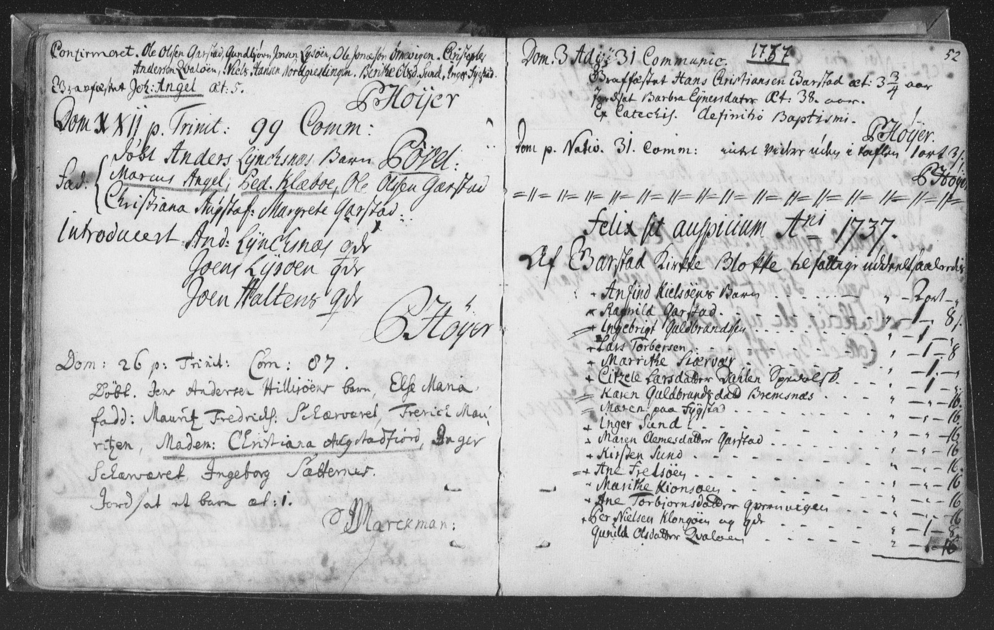 SAT, Ministerialprotokoller, klokkerbøker og fødselsregistre - Nord-Trøndelag, 786/L0685: Ministerialbok nr. 786A01, 1710-1798, s. 52