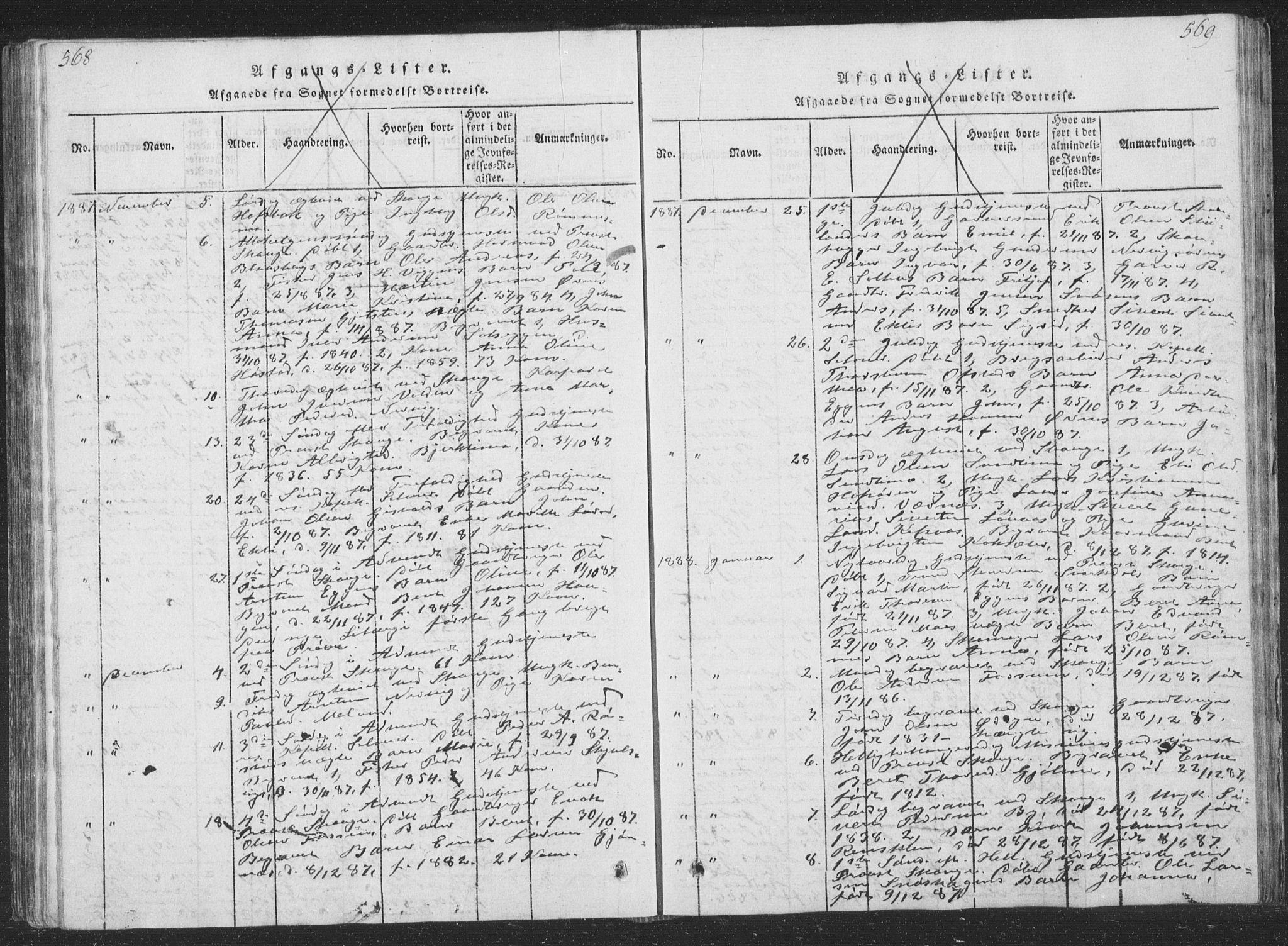 SAT, Ministerialprotokoller, klokkerbøker og fødselsregistre - Sør-Trøndelag, 668/L0816: Klokkerbok nr. 668C05, 1816-1893, s. 568-569