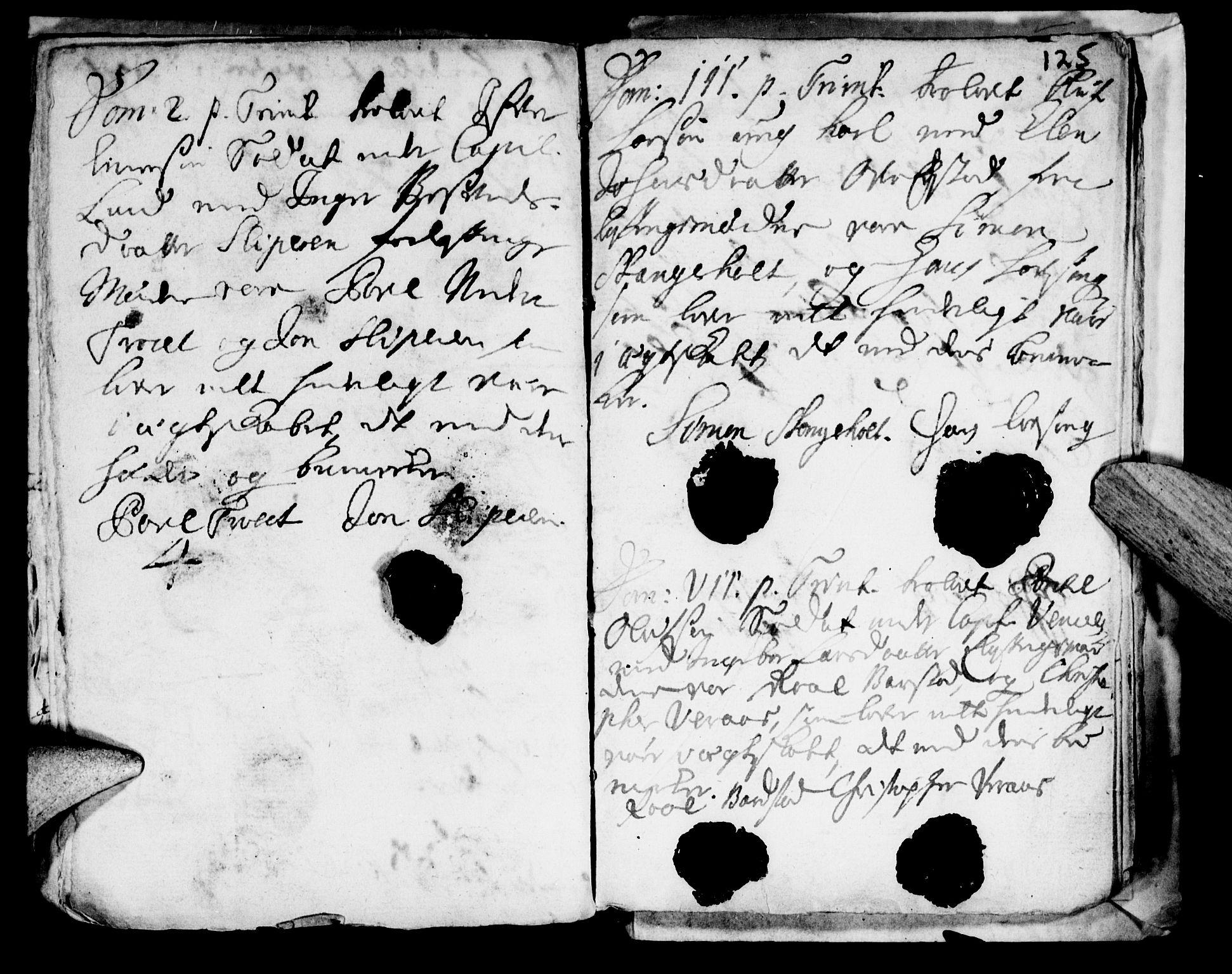 SAT, Ministerialprotokoller, klokkerbøker og fødselsregistre - Nord-Trøndelag, 722/L0214: Ministerialbok nr. 722A01, 1692-1718, s. 125