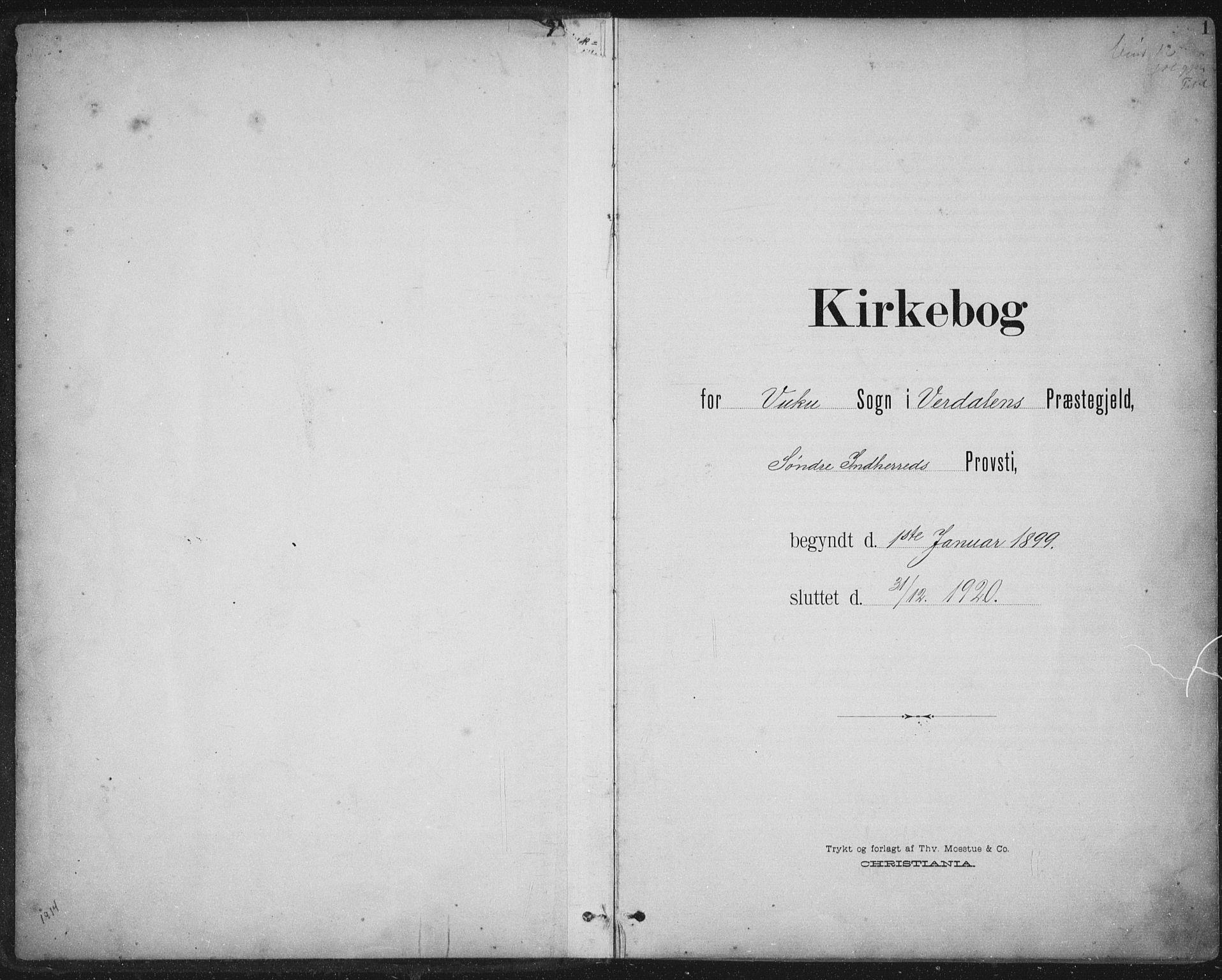 SAT, Ministerialprotokoller, klokkerbøker og fødselsregistre - Nord-Trøndelag, 724/L0269: Klokkerbok nr. 724C05, 1899-1920, s. 1