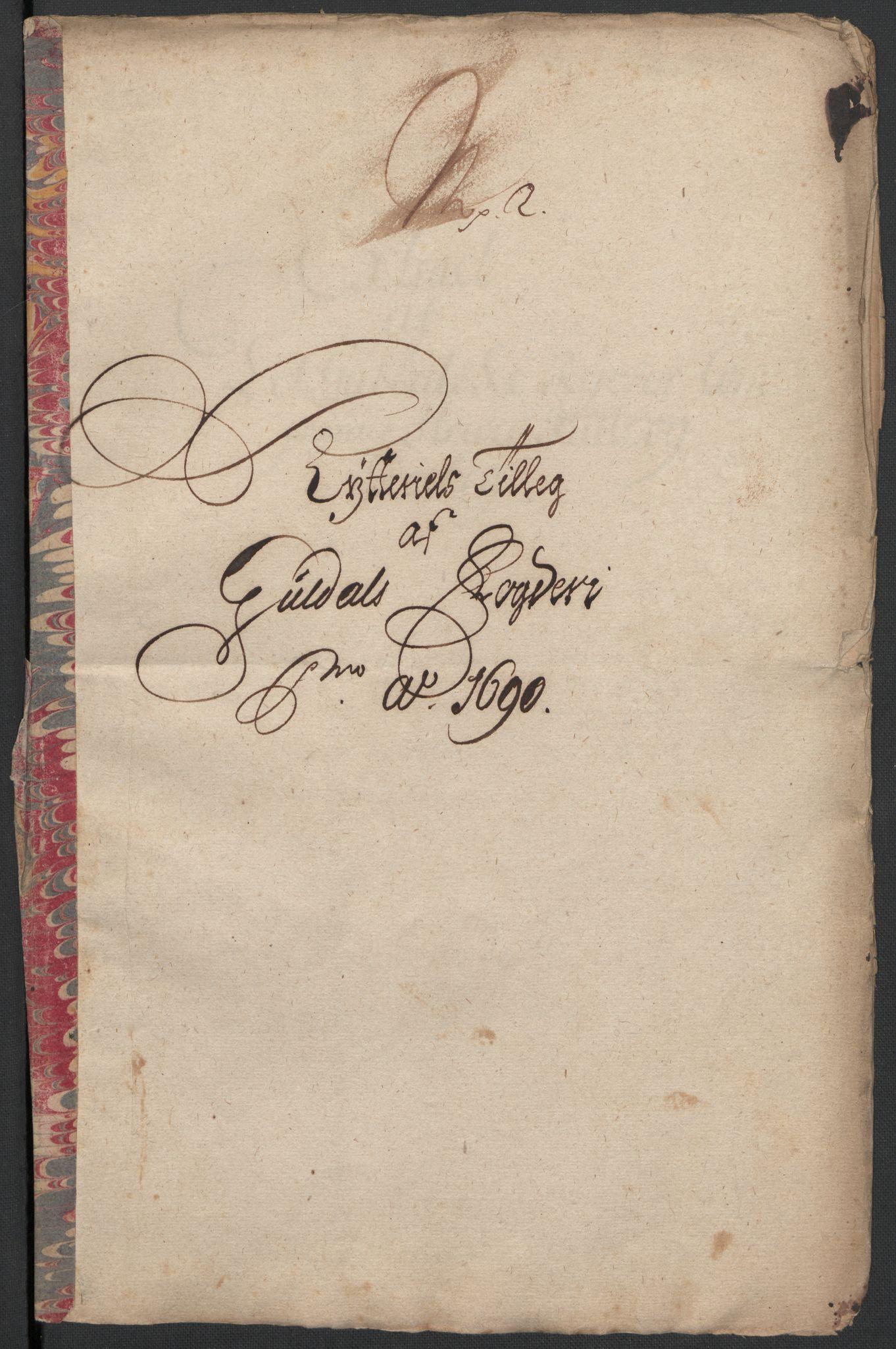 RA, Rentekammeret inntil 1814, Reviderte regnskaper, Fogderegnskap, R59/L3940: Fogderegnskap Gauldal, 1689-1690, s. 377