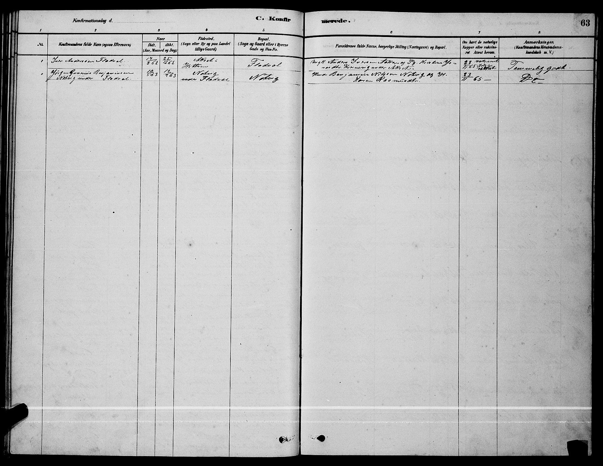 SAT, Ministerialprotokoller, klokkerbøker og fødselsregistre - Sør-Trøndelag, 641/L0597: Klokkerbok nr. 641C01, 1878-1893, s. 63