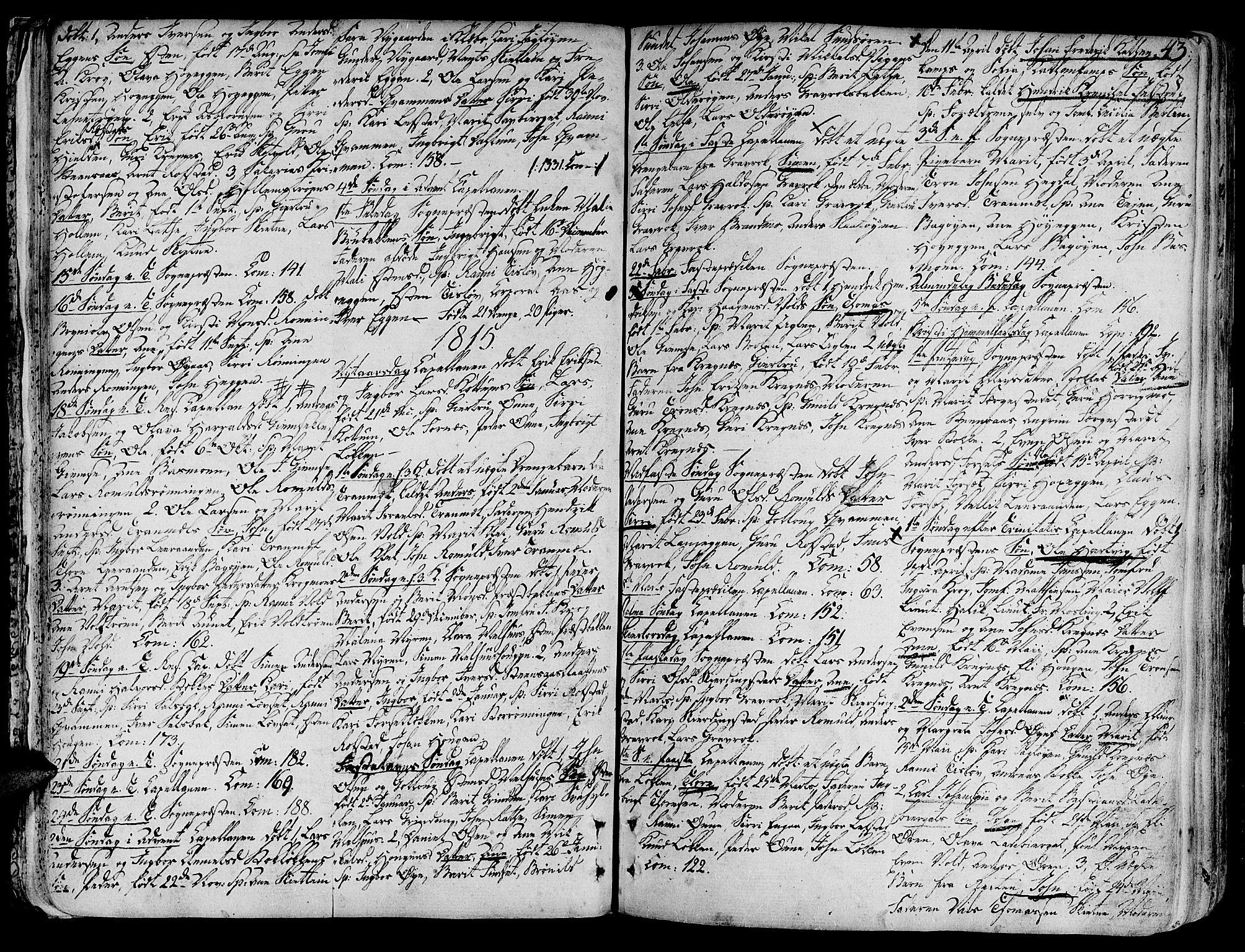 SAT, Ministerialprotokoller, klokkerbøker og fødselsregistre - Sør-Trøndelag, 691/L1061: Ministerialbok nr. 691A02 /1, 1768-1815, s. 43