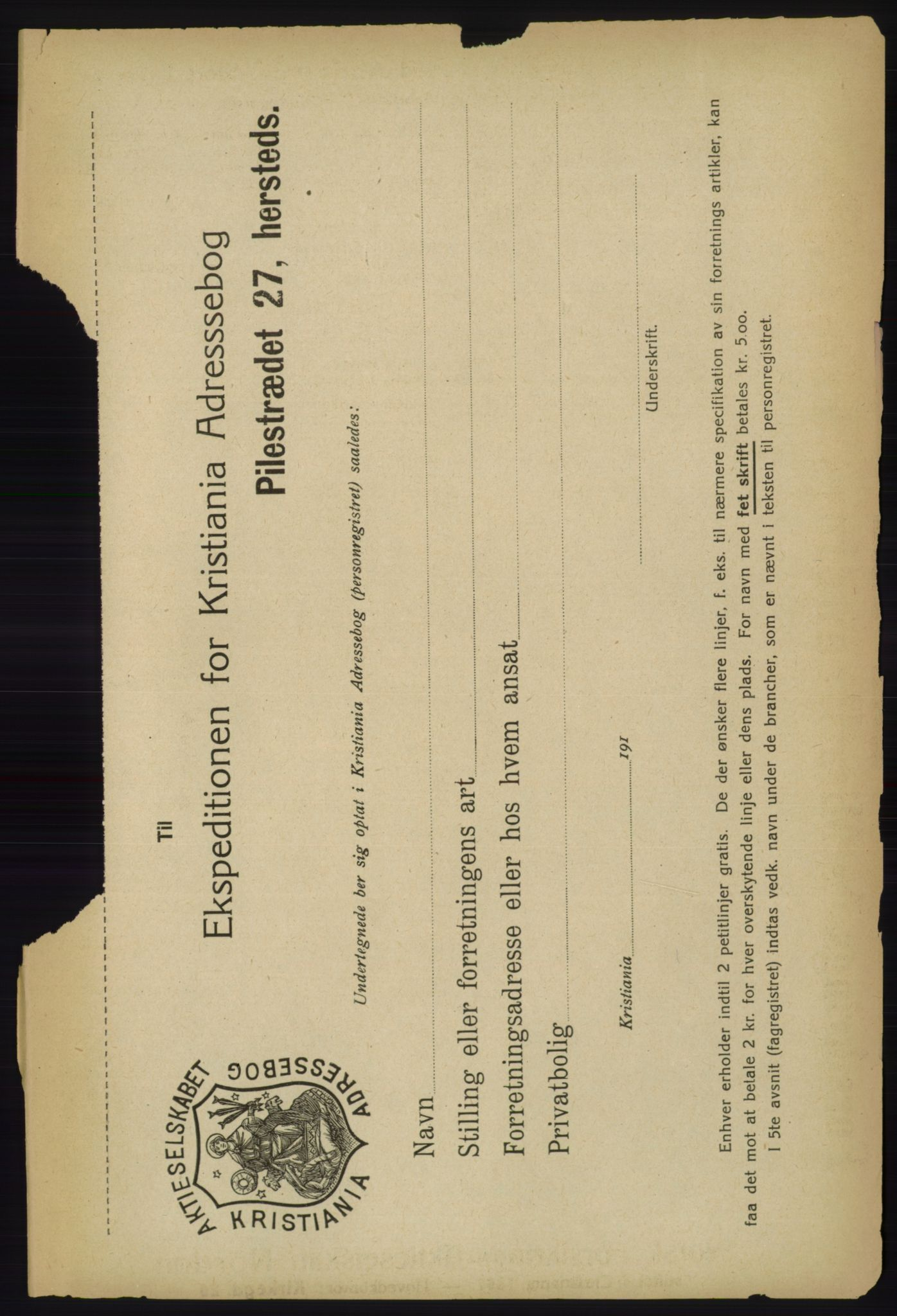 PUBL, Kristiania/Oslo adressebok, 1918, s. 2372