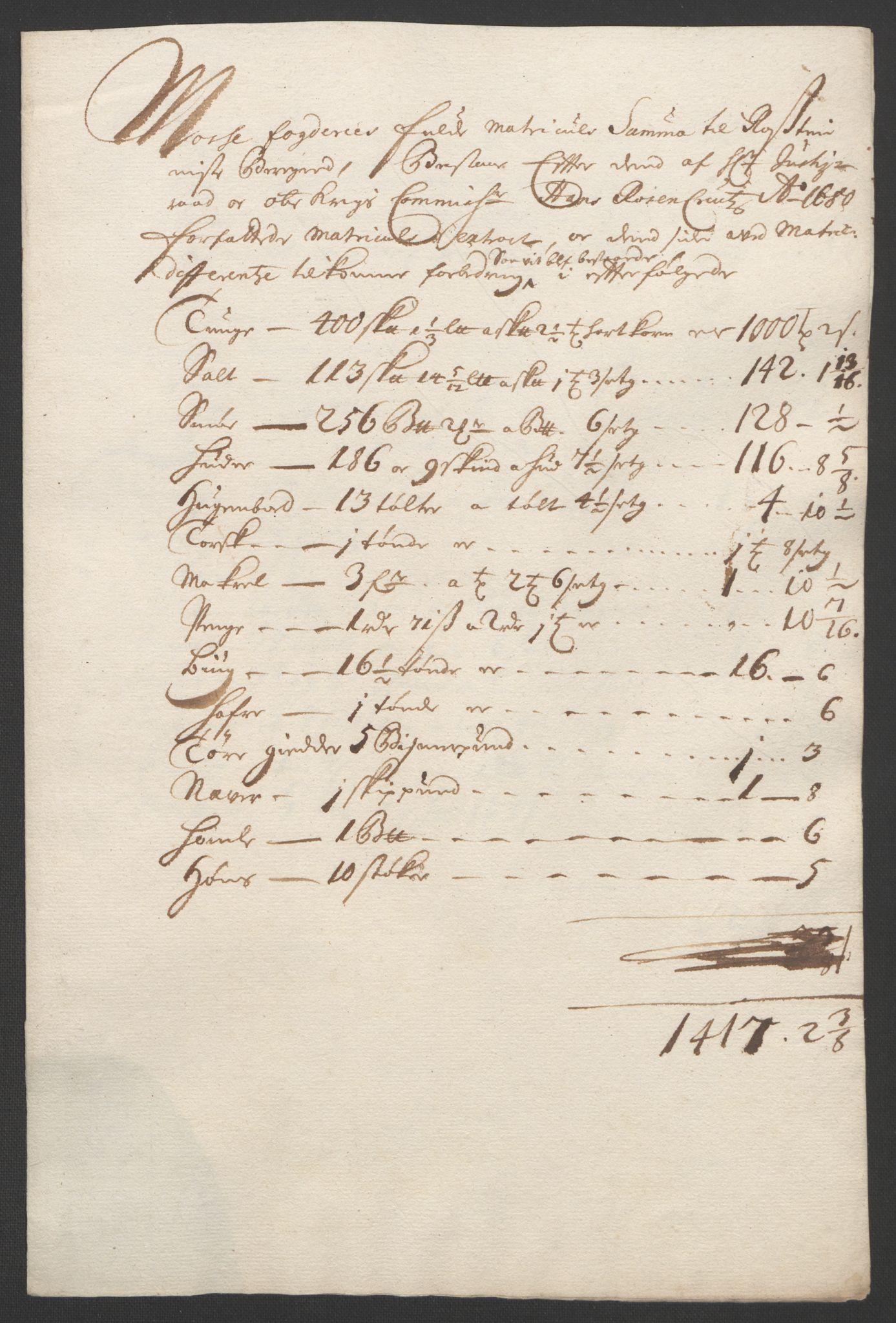 RA, Rentekammeret inntil 1814, Reviderte regnskaper, Fogderegnskap, R02/L0108: Fogderegnskap Moss og Verne kloster, 1692-1693, s. 131