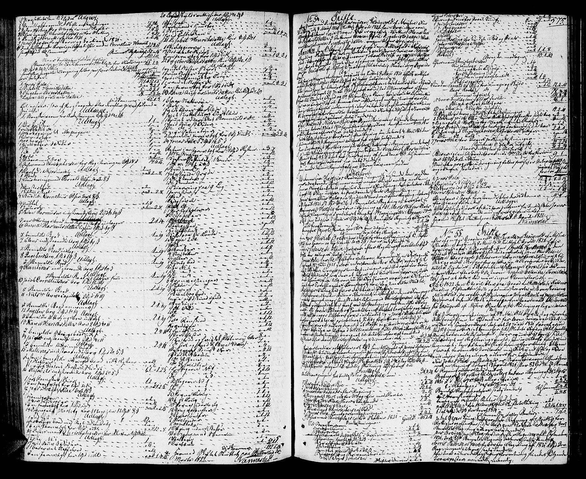 SAT, Vesterålen sorenskriveri, 3/3A/L0012: Skifteprotokoll, 1814-1825, s. 574b-575a