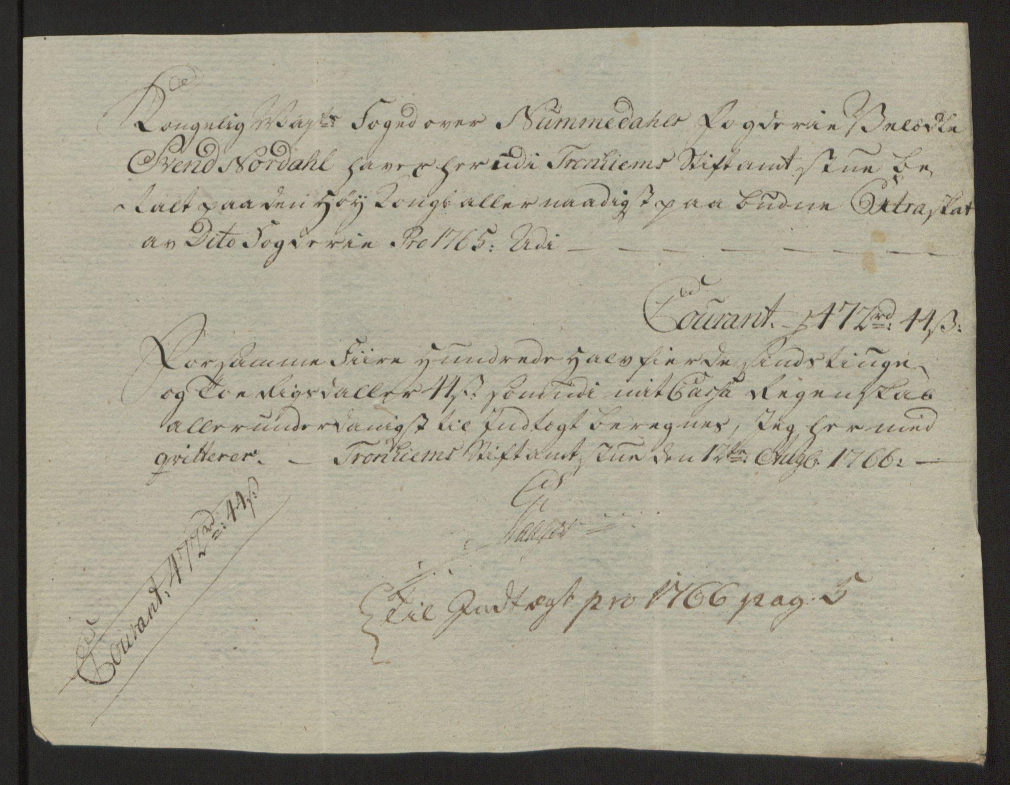 RA, Rentekammeret inntil 1814, Reviderte regnskaper, Fogderegnskap, R64/L4502: Ekstraskatten Namdal, 1762-1772, s. 223