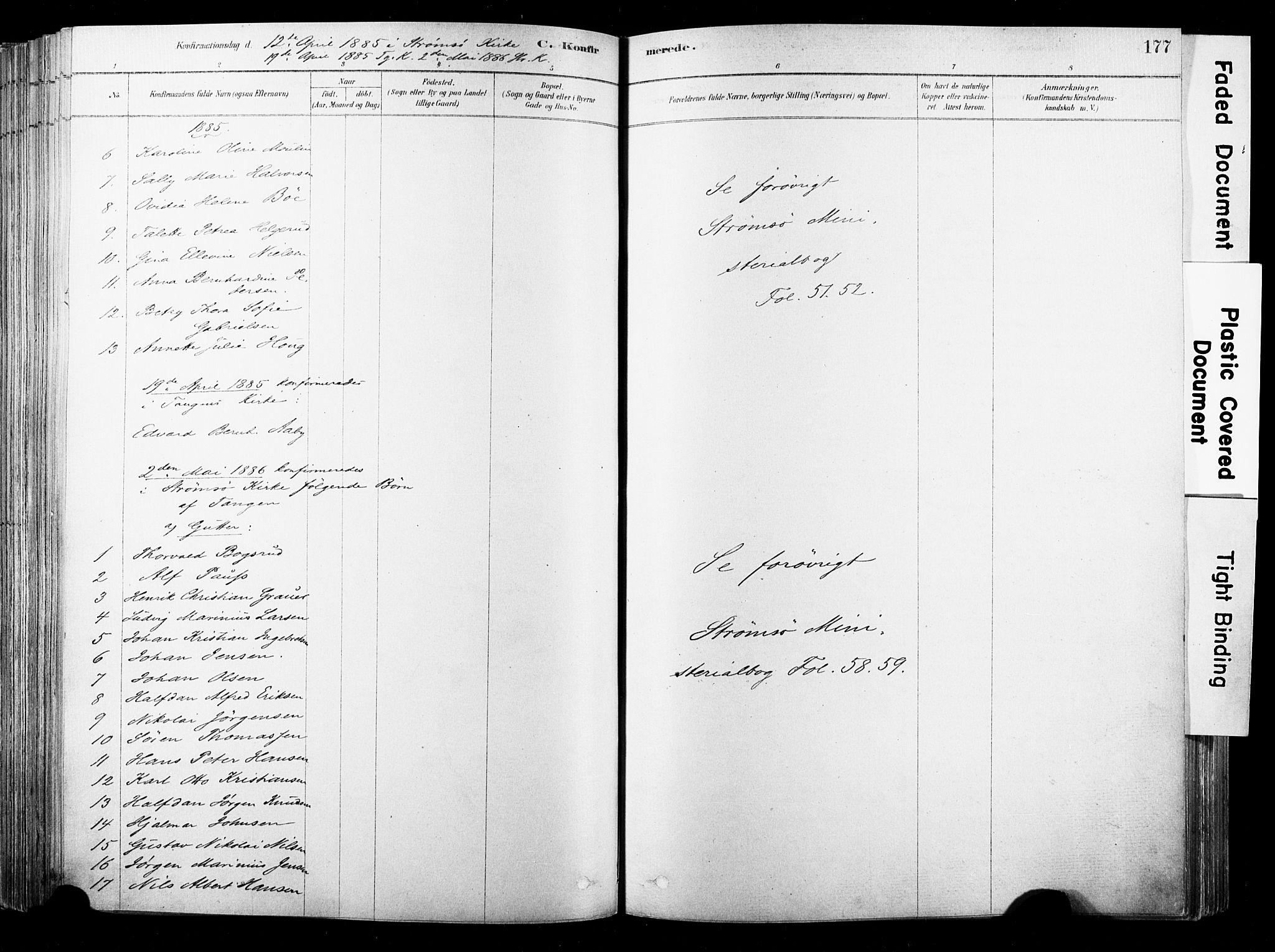 SAKO, Strømsø kirkebøker, F/Fb/L0006: Ministerialbok nr. II 6, 1879-1910, s. 177