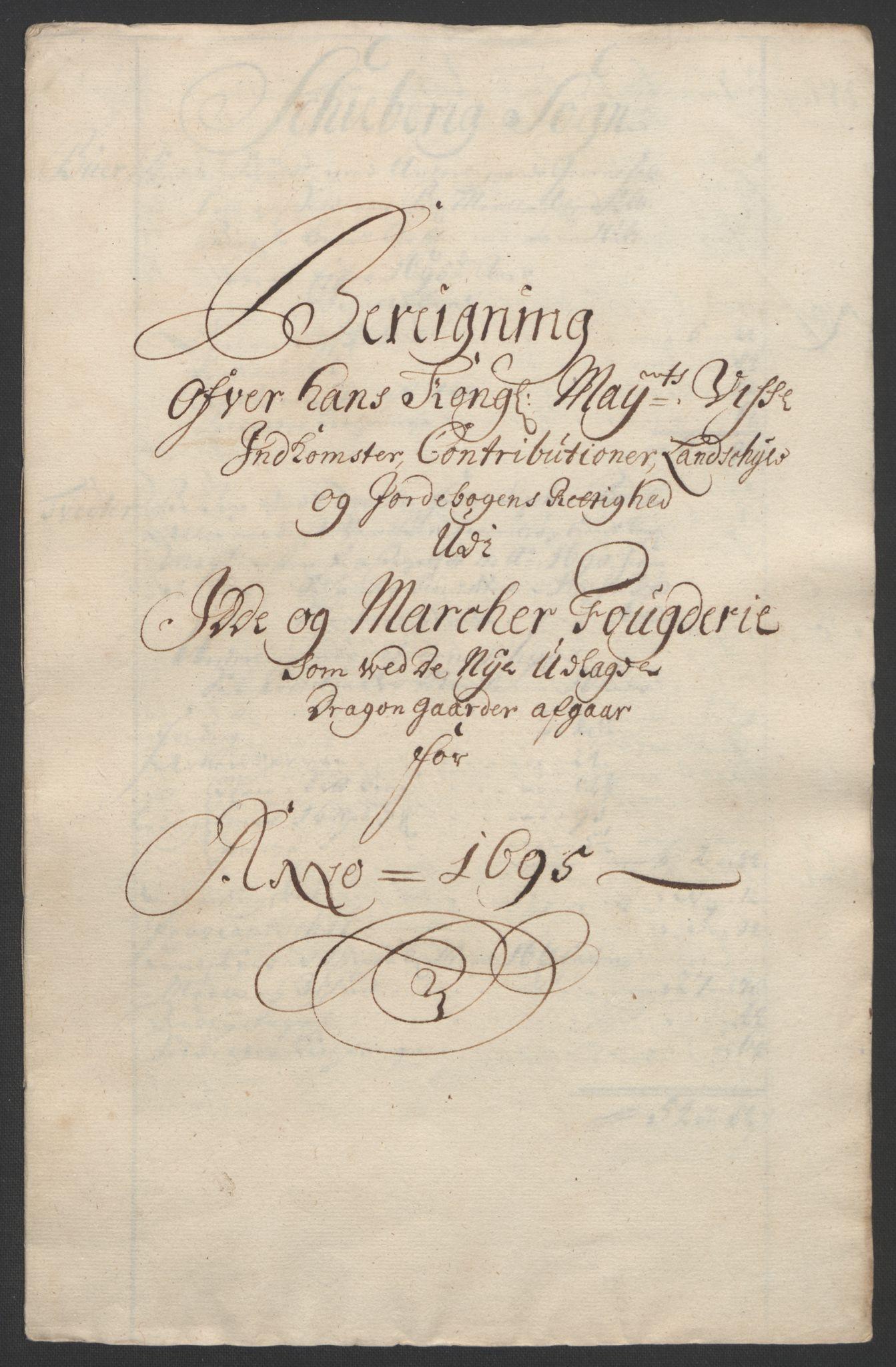 RA, Rentekammeret inntil 1814, Reviderte regnskaper, Fogderegnskap, R01/L0012: Fogderegnskap Idd og Marker, 1694-1695, s. 254