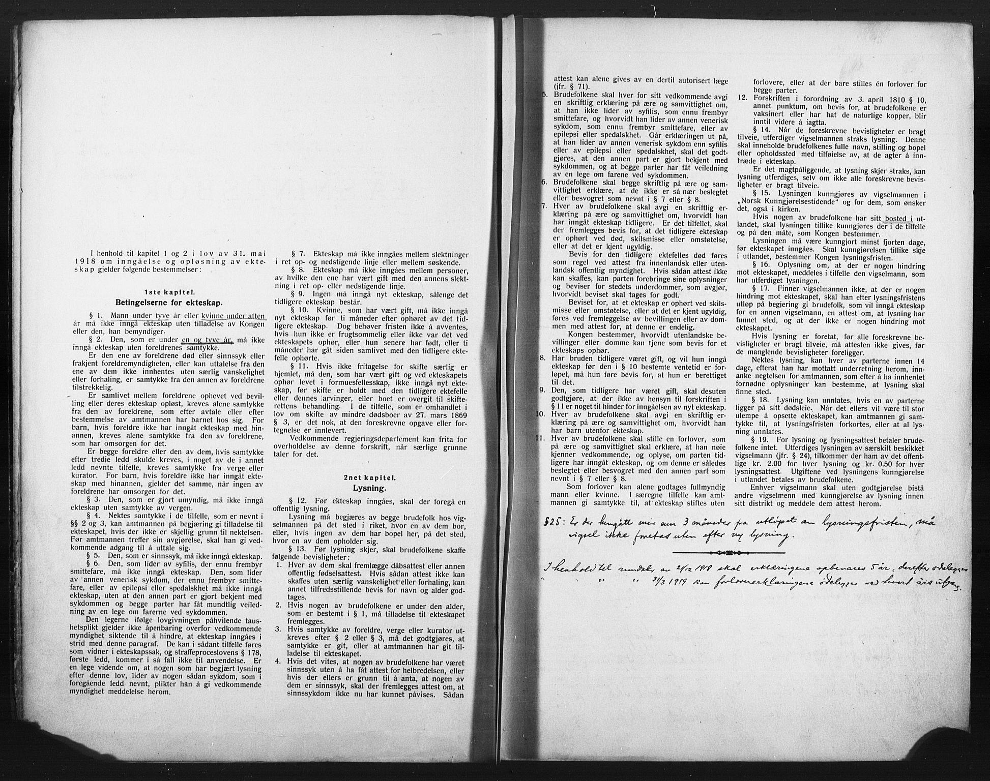 SAKO, Skien kirkebøker, H/Ha/L0001: Lysningsprotokoll nr. 1, 1919-1929