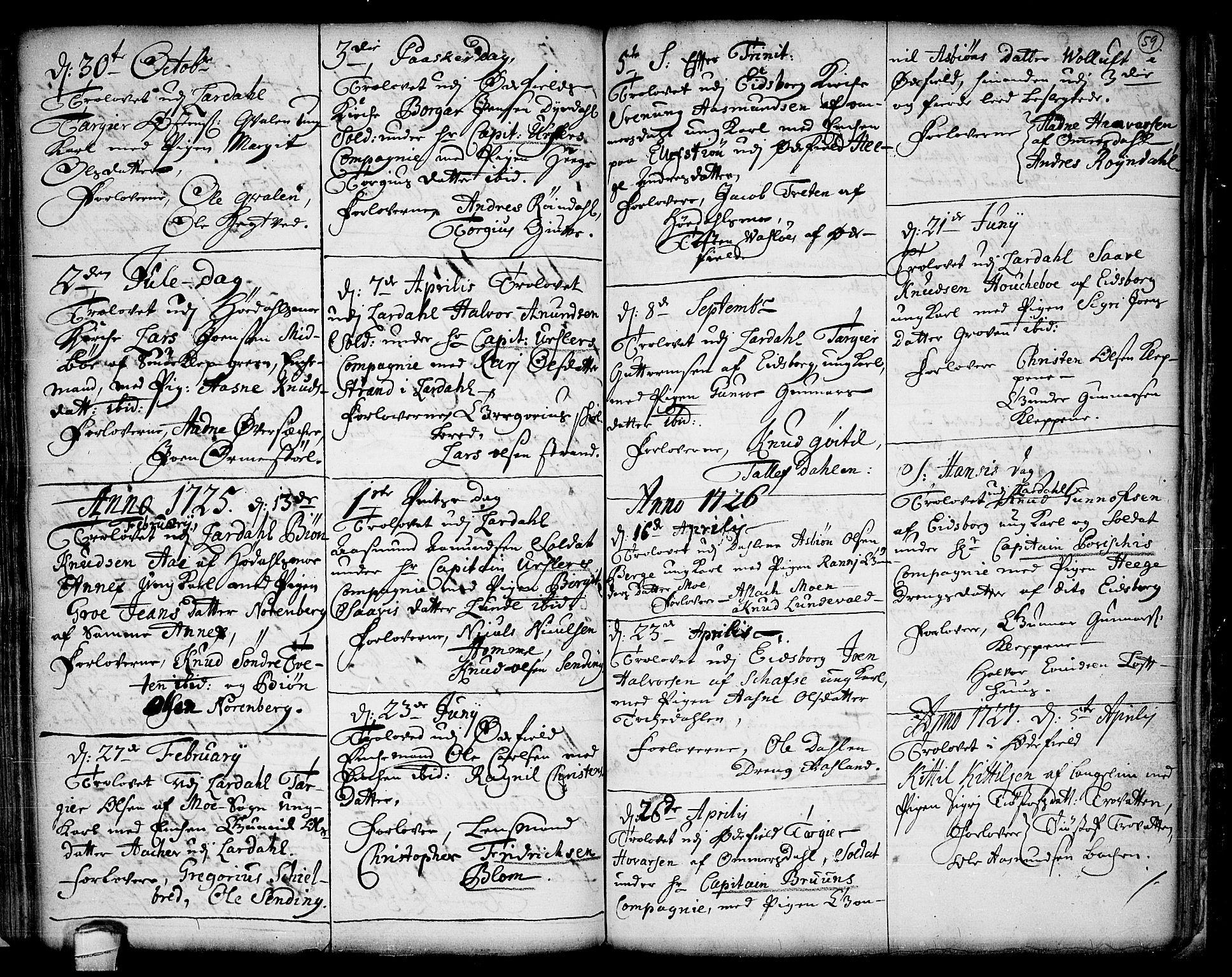 SAKO, Lårdal kirkebøker, F/Fa/L0001: Ministerialbok nr. I 1, 1721-1734, s. 59