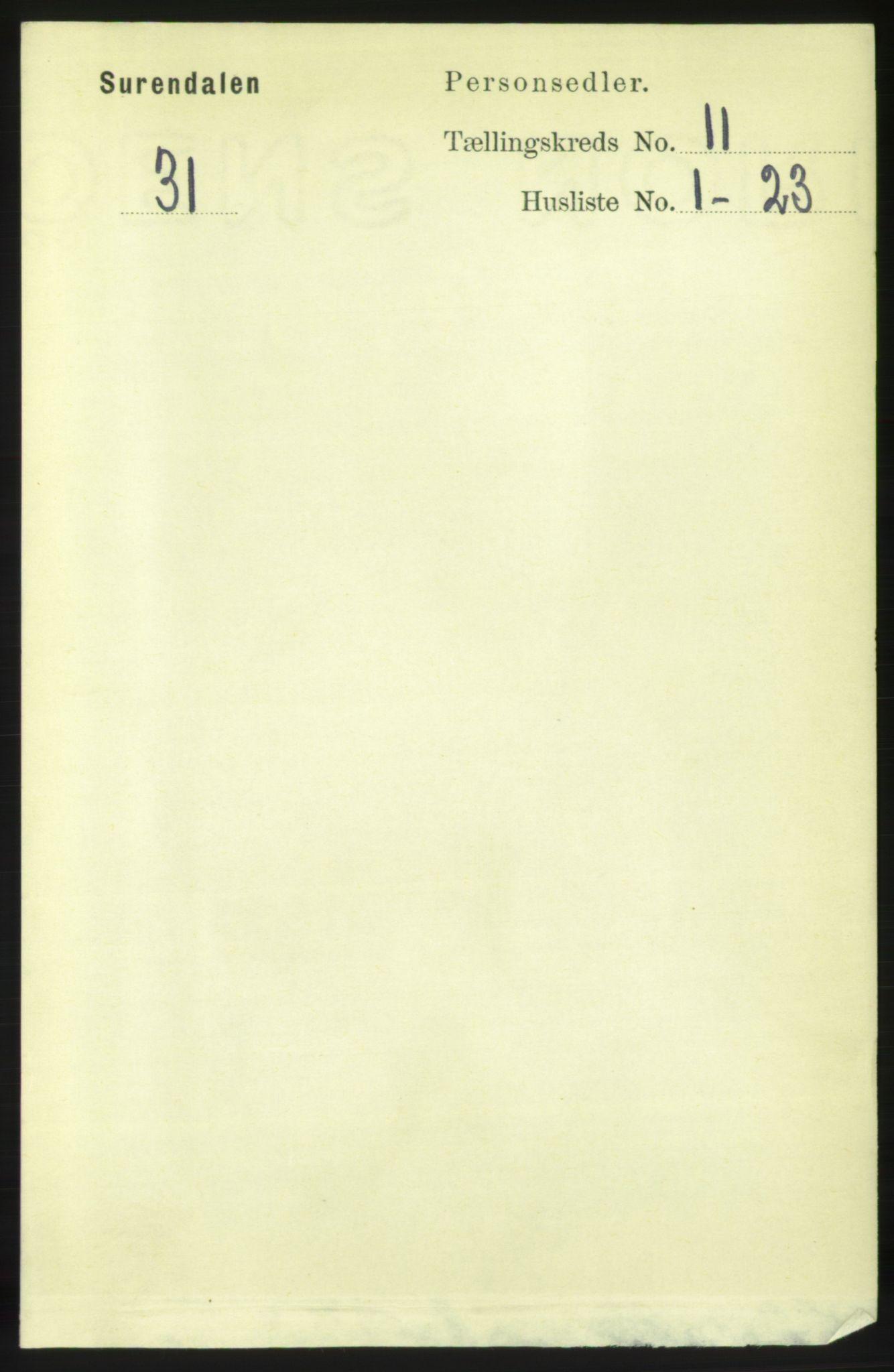 RA, Folketelling 1891 for 1566 Surnadal herred, 1891, s. 2670