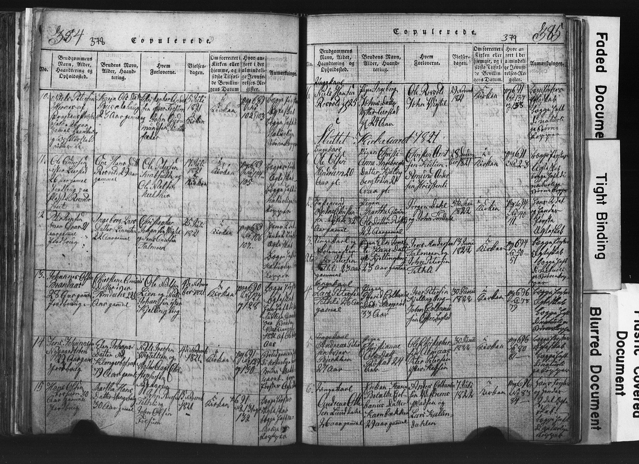 SAT, Ministerialprotokoller, klokkerbøker og fødselsregistre - Nord-Trøndelag, 701/L0017: Klokkerbok nr. 701C01, 1817-1825, s. 378-379