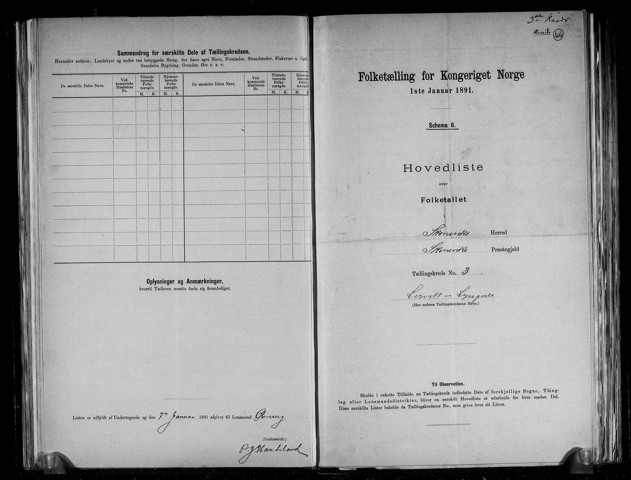 RA, Folketelling 1891 for 1212 Skånevik herred, 1891, s. 8