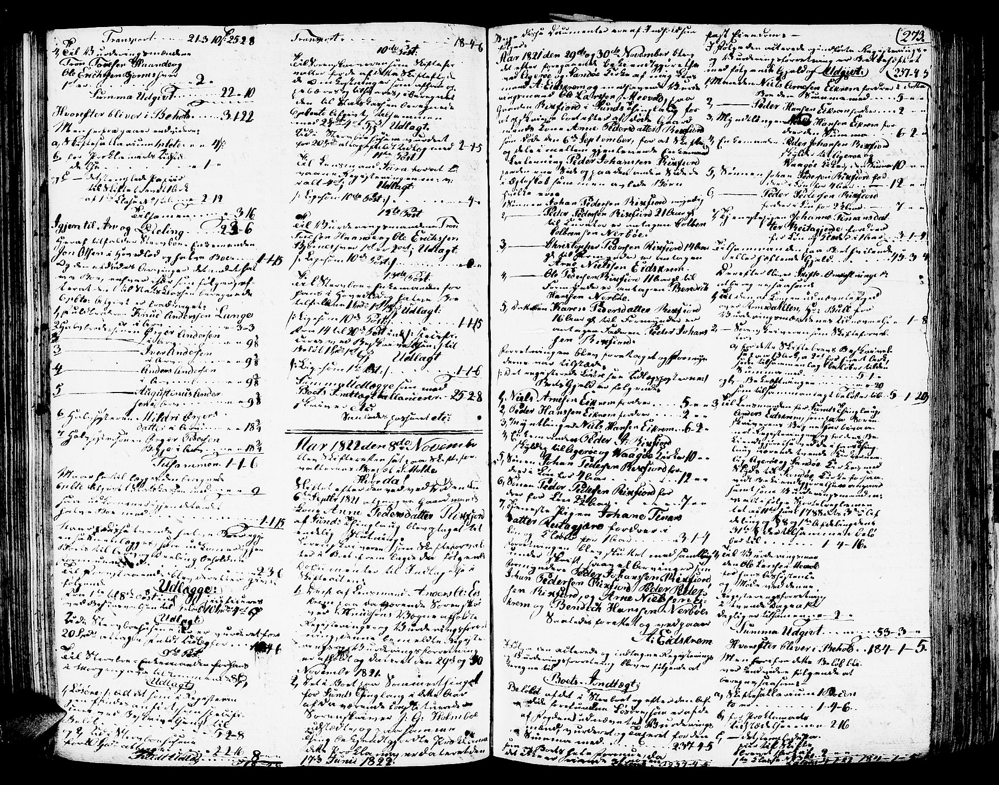 SAT, Romsdal sorenskriveri, 3/3A/L0015: Skifteutlodnings Protokoll 1, 1821-1823, s. 273