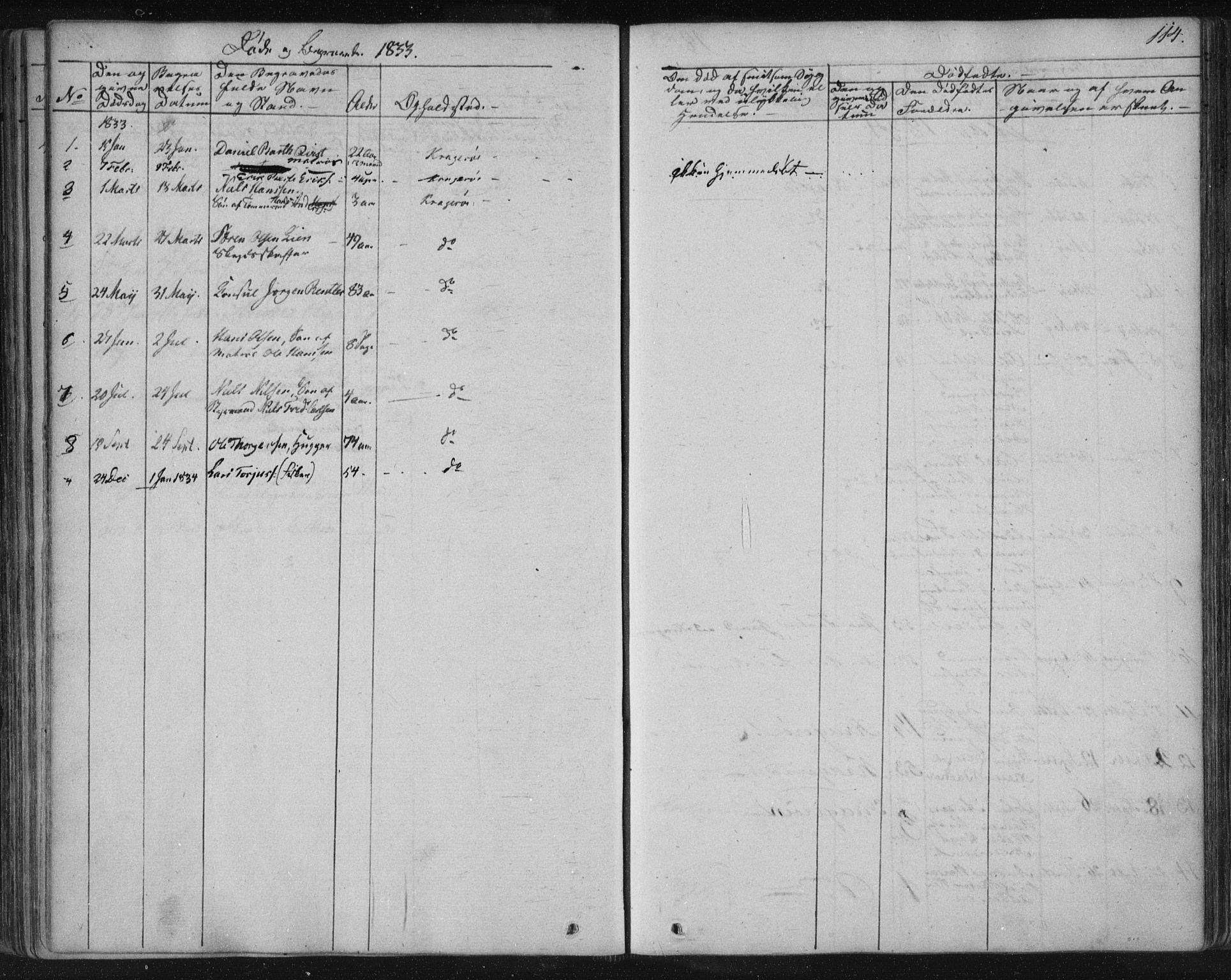 SAKO, Kragerø kirkebøker, F/Fa/L0005: Ministerialbok nr. 5, 1832-1847, s. 114