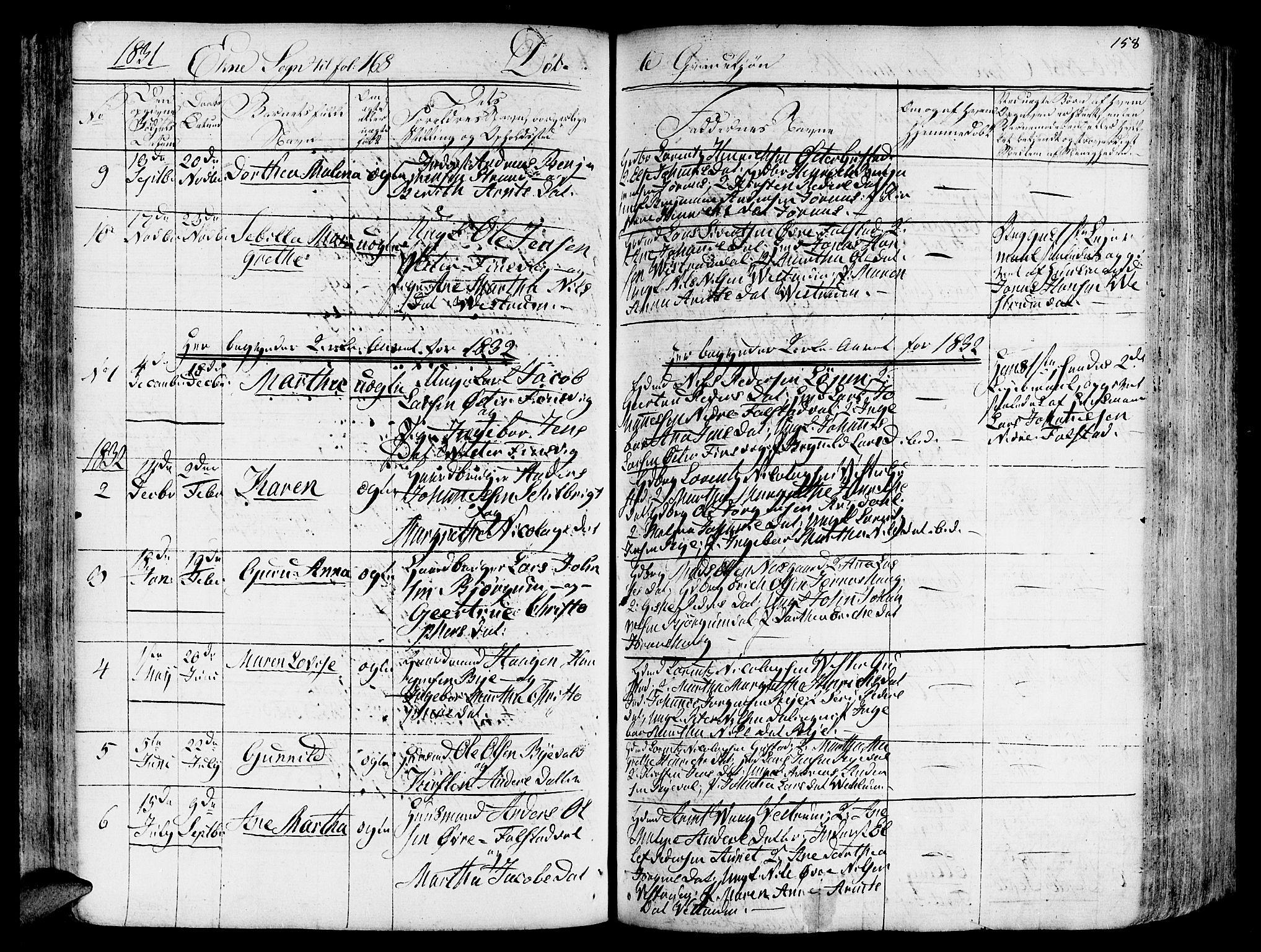 SAT, Ministerialprotokoller, klokkerbøker og fødselsregistre - Nord-Trøndelag, 717/L0152: Ministerialbok nr. 717A05 /2, 1828-1836, s. 158