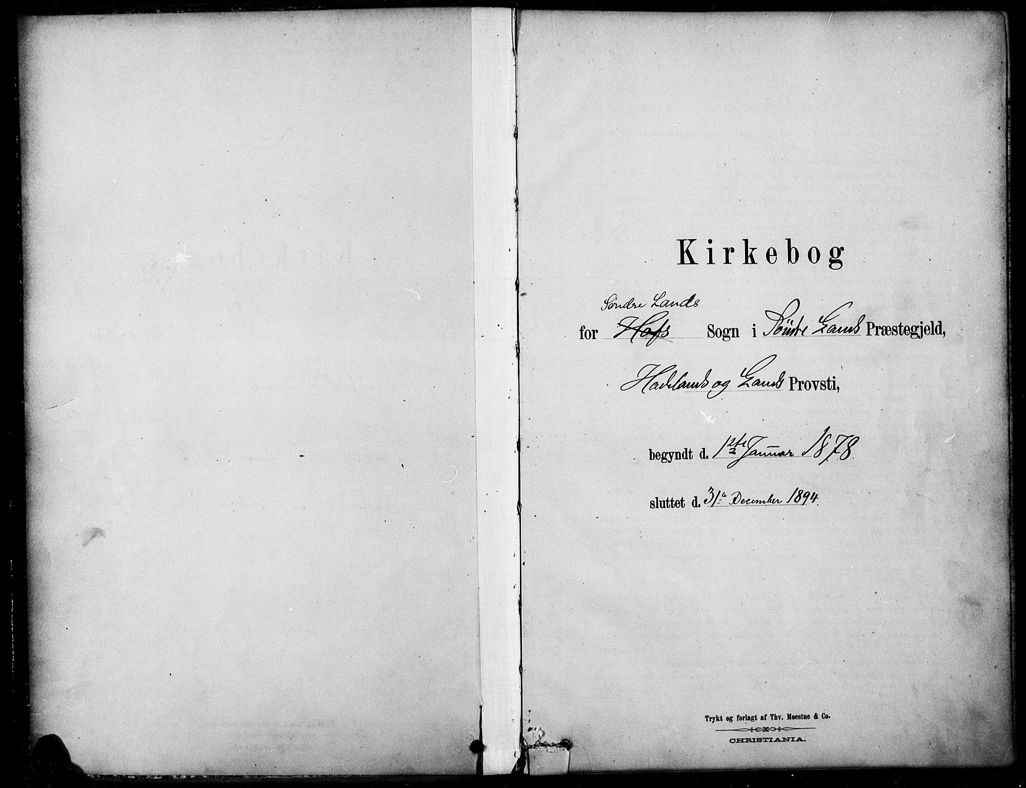 SAH, Søndre Land prestekontor, K/L0003: Ministerialbok nr. 3, 1878-1894