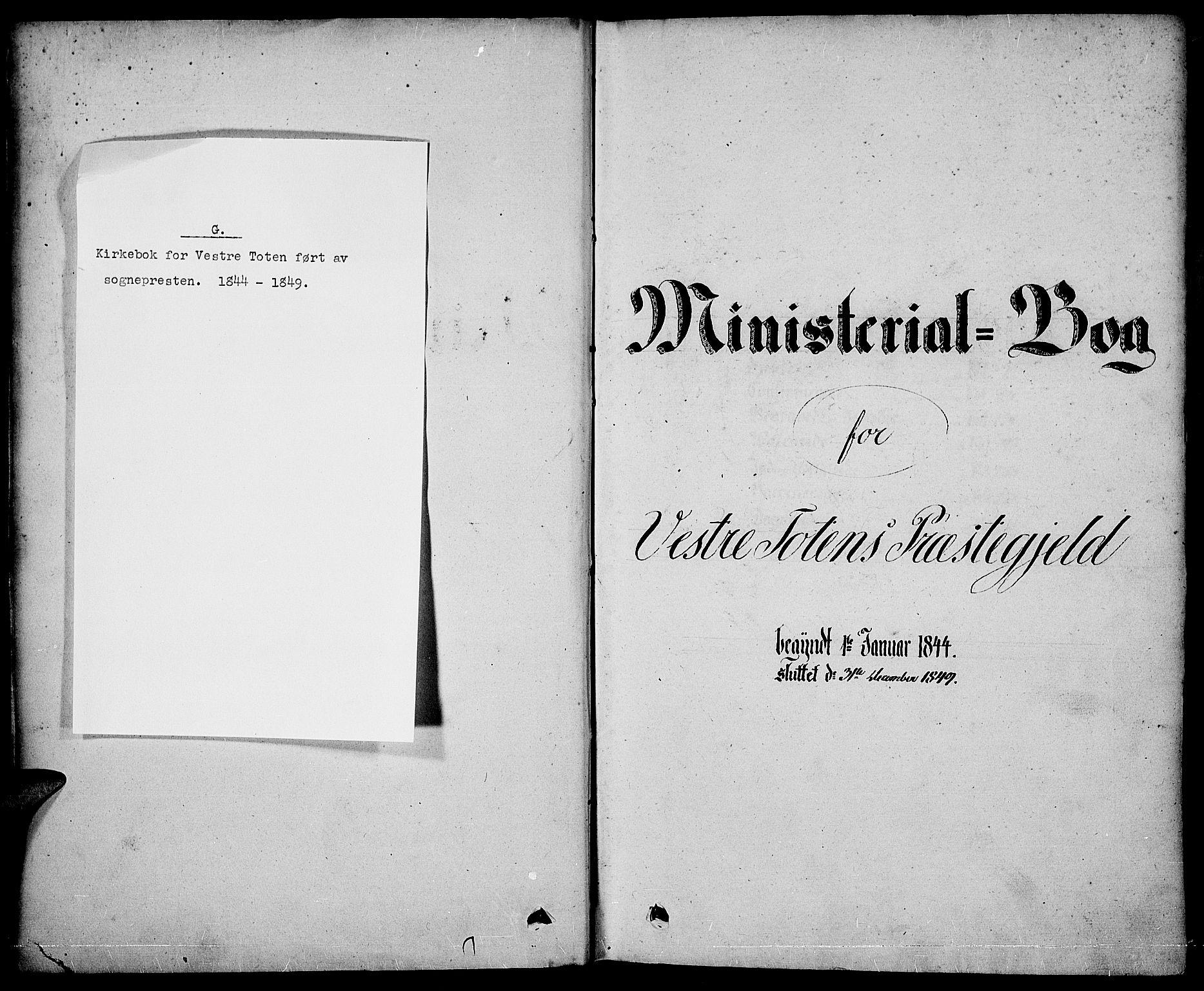 SAH, Vestre Toten prestekontor, Ministerialbok nr. 4, 1844-1849