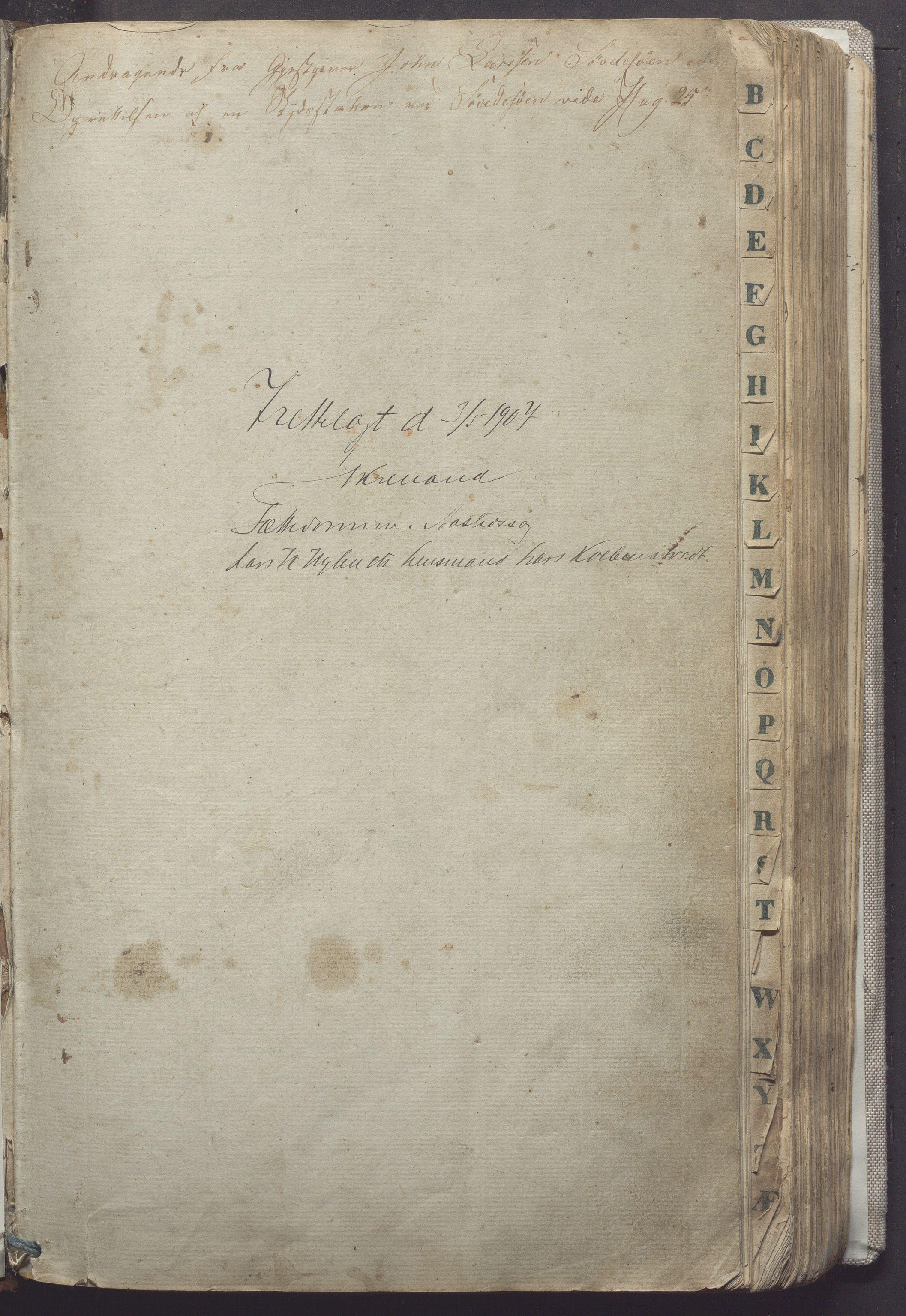 IKAR, Suldal kommune - Formannskapet/Rådmannen, A/Aa/L0001: Møtebok, 1837-1876, s. 1a