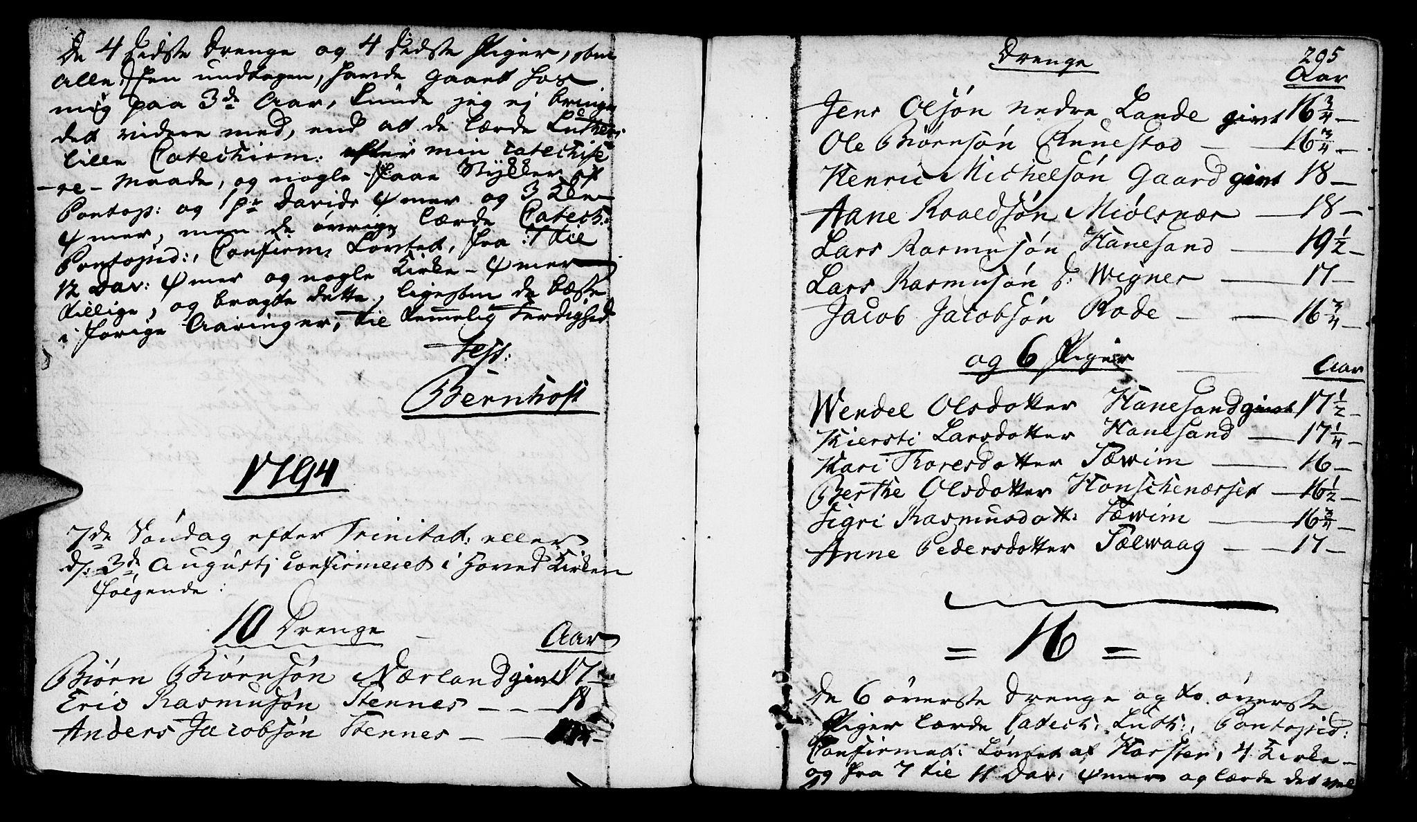 SAST, Finnøy sokneprestkontor, H/Ha/Haa/L0005: Ministerialbok nr. A 5, 1773-1816, s. 295