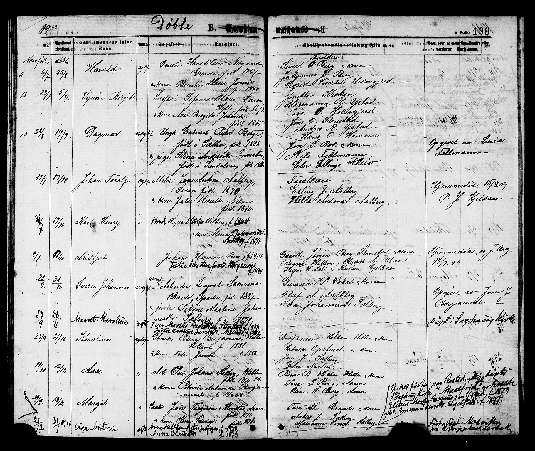 SAT, Ministerialprotokoller, klokkerbøker og fødselsregistre - Nord-Trøndelag, 731/L0311: Klokkerbok nr. 731C02, 1875-1911, s. 138