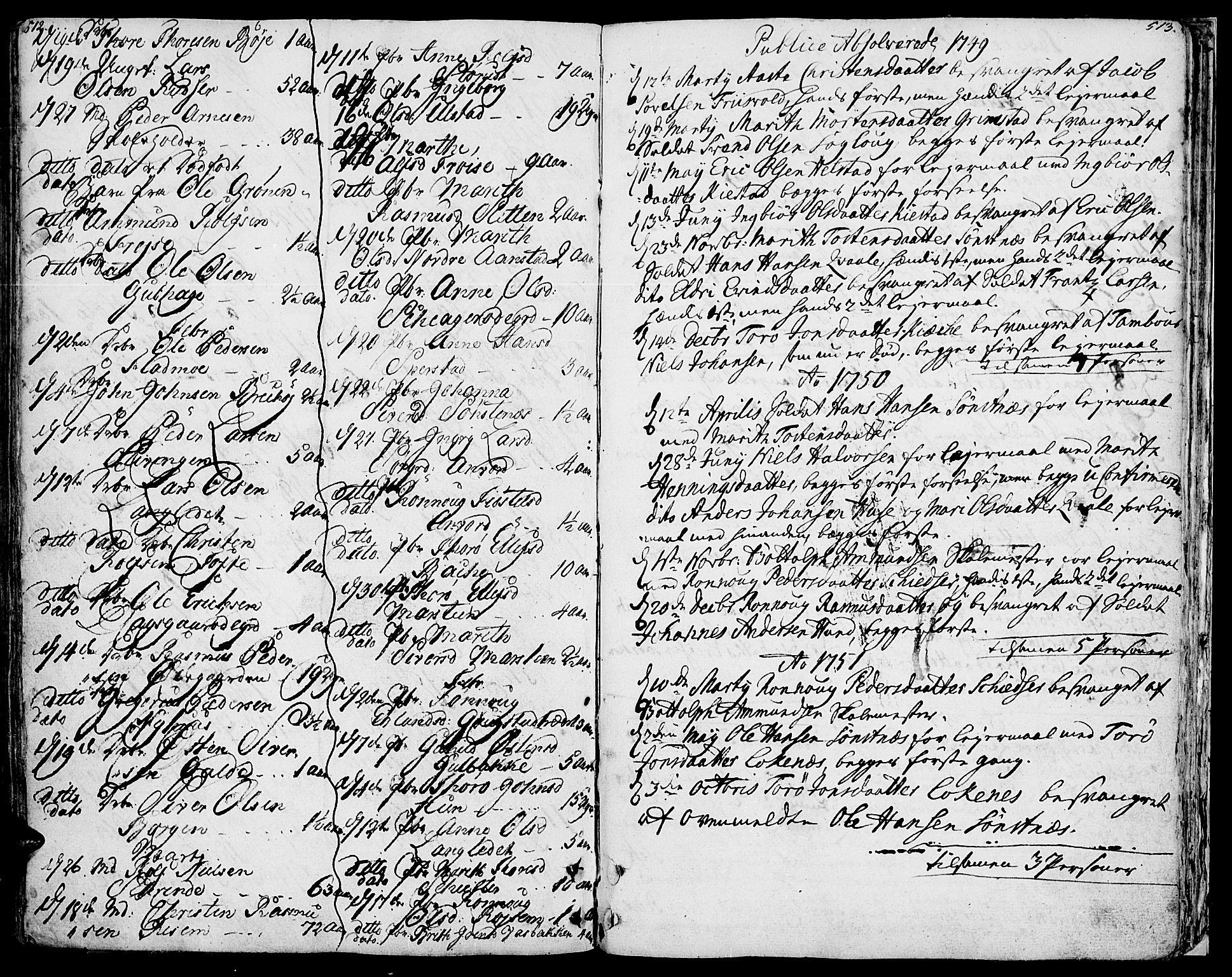 SAH, Lom prestekontor, K/L0002: Ministerialbok nr. 2, 1749-1801, s. 512-513
