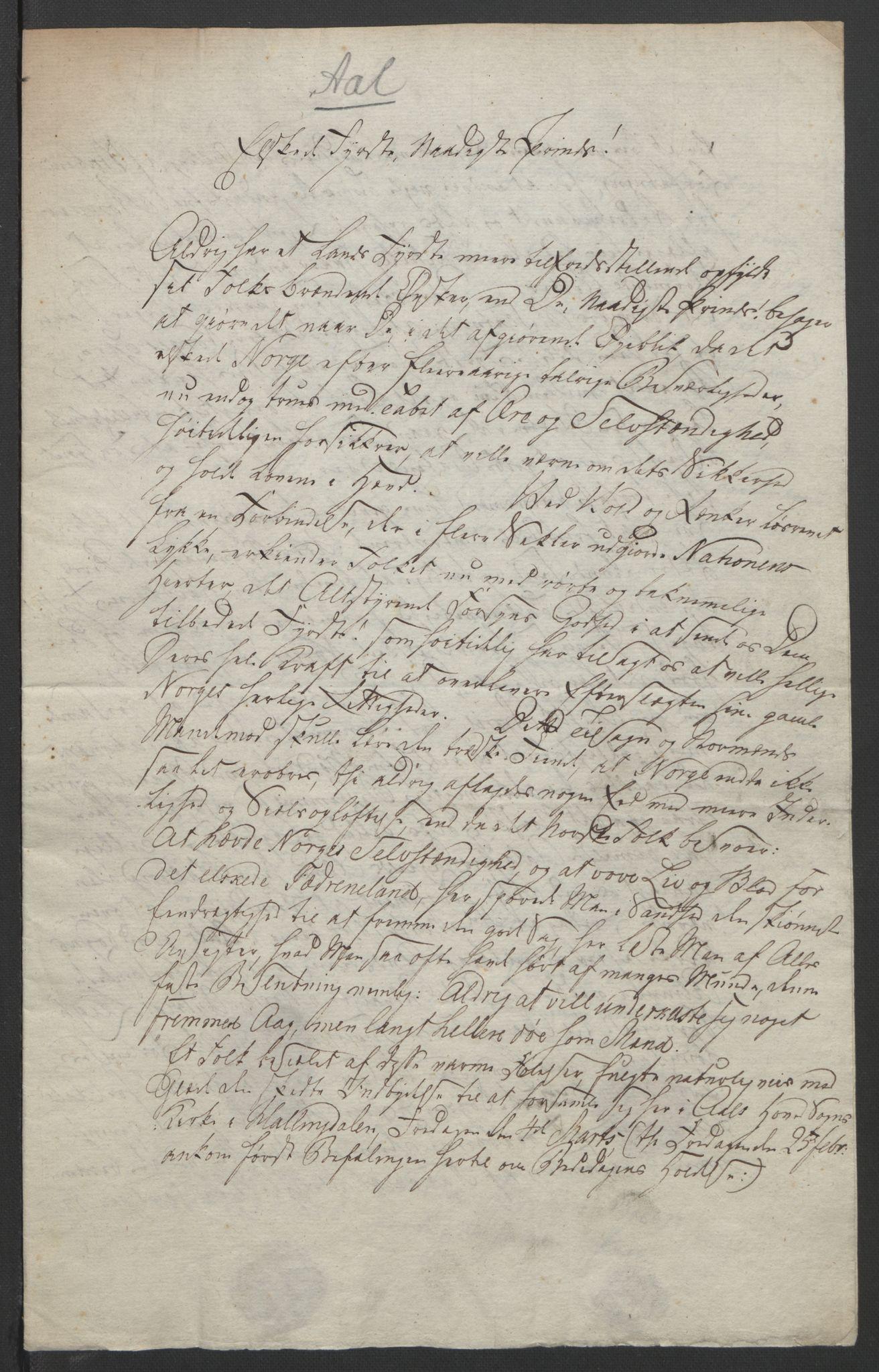 RA, Statsrådssekretariatet, D/Db/L0007: Fullmakter for Eidsvollsrepresentantene i 1814. , 1814, s. 305