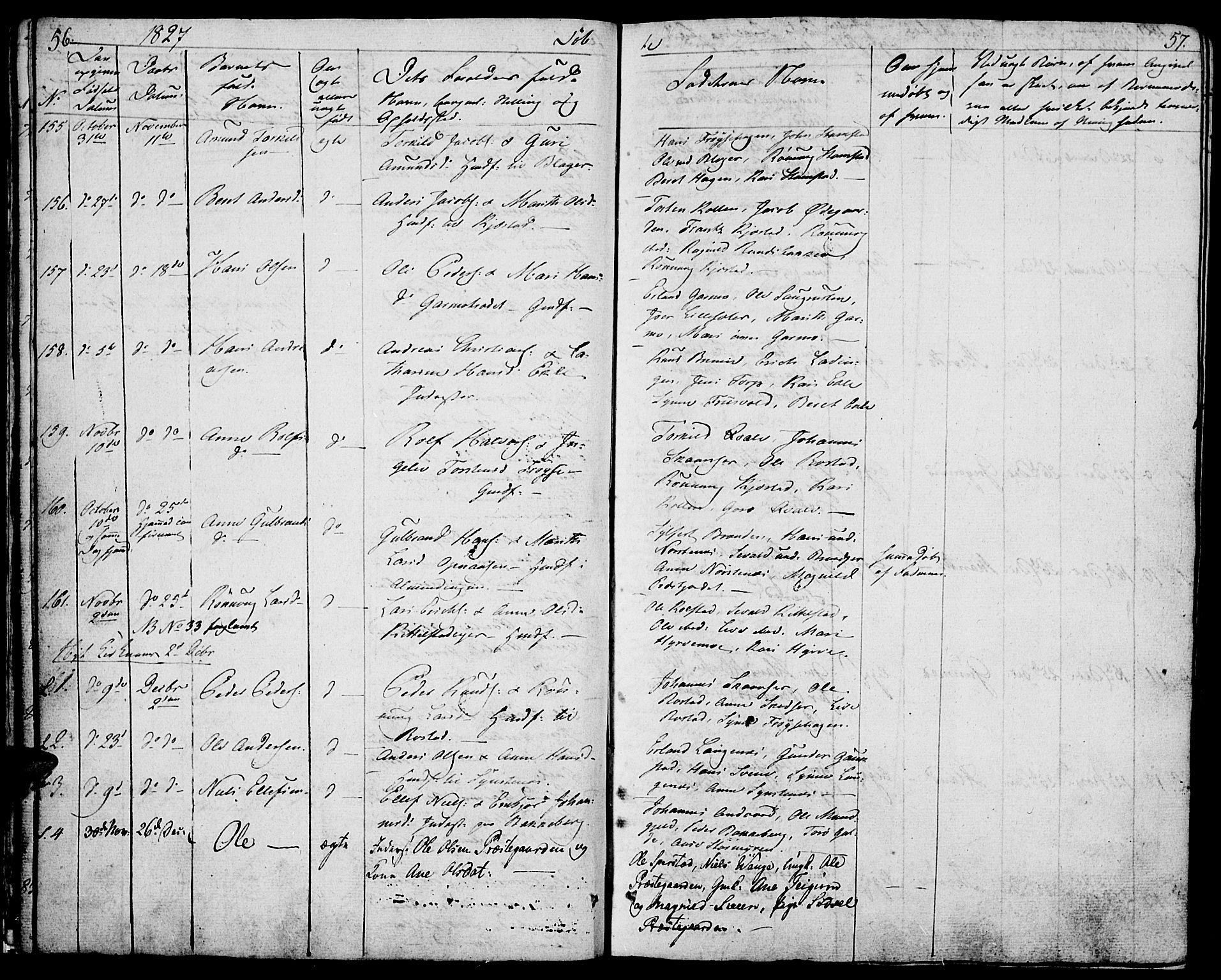 SAH, Lom prestekontor, K/L0005: Ministerialbok nr. 5, 1825-1837, s. 56-57