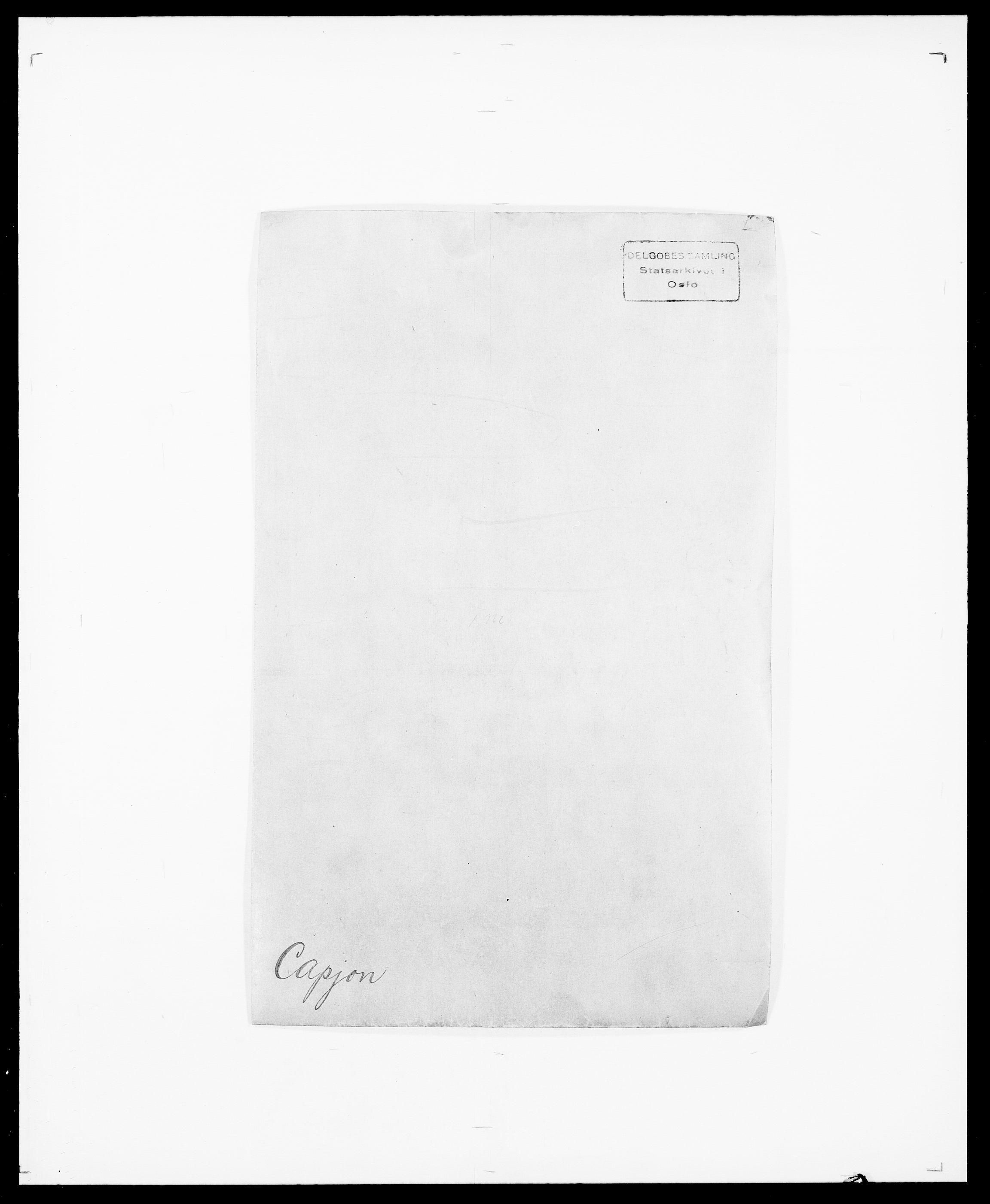 SAO, Delgobe, Charles Antoine - samling, D/Da/L0008: Capjon - Dagenbolt, s. 1
