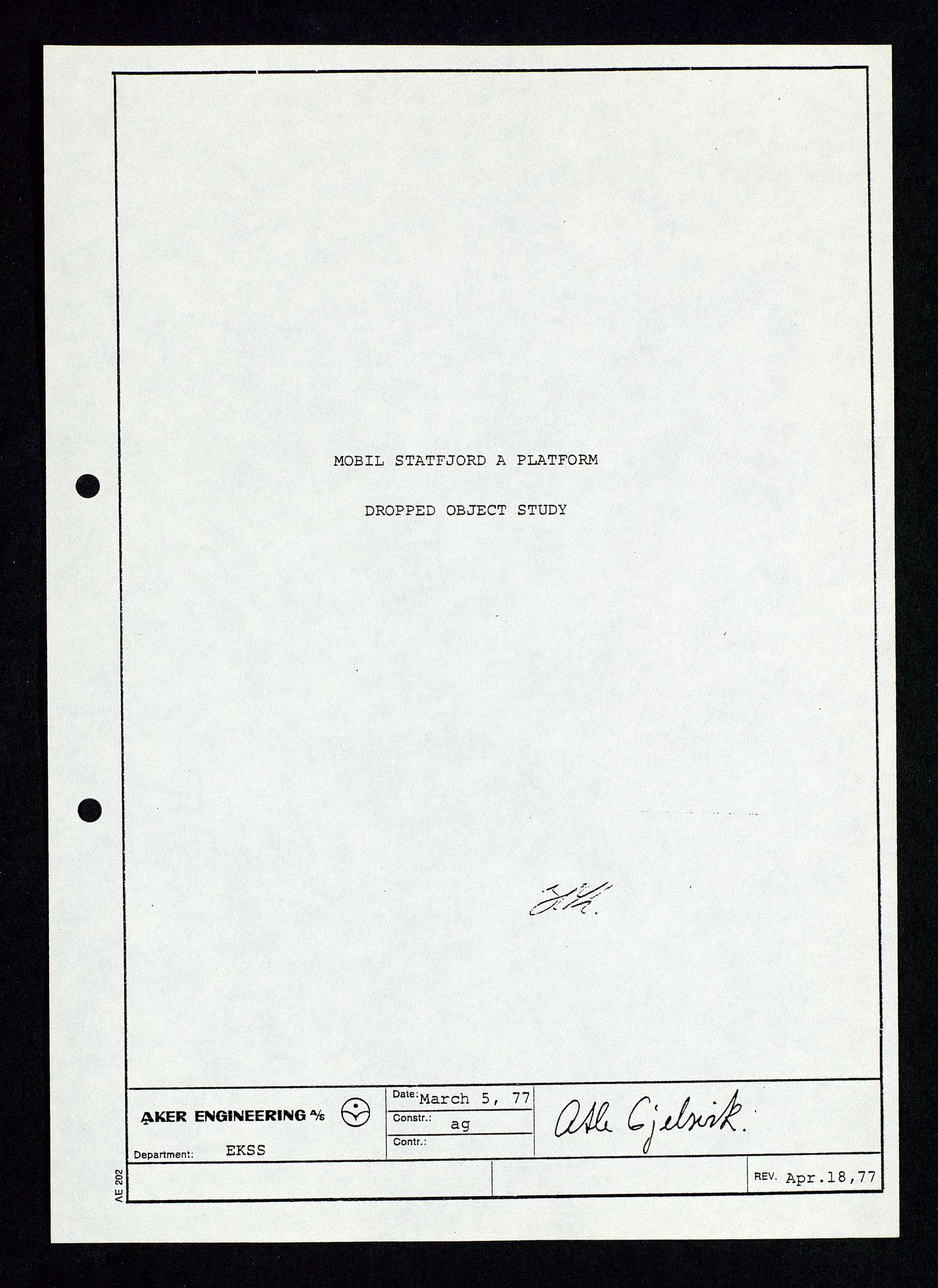 SAST, Pa 1339 - Statoil ASA, D/Dm/L0348: Gravitasjonsplattform betong, 1975-1978, s. 30