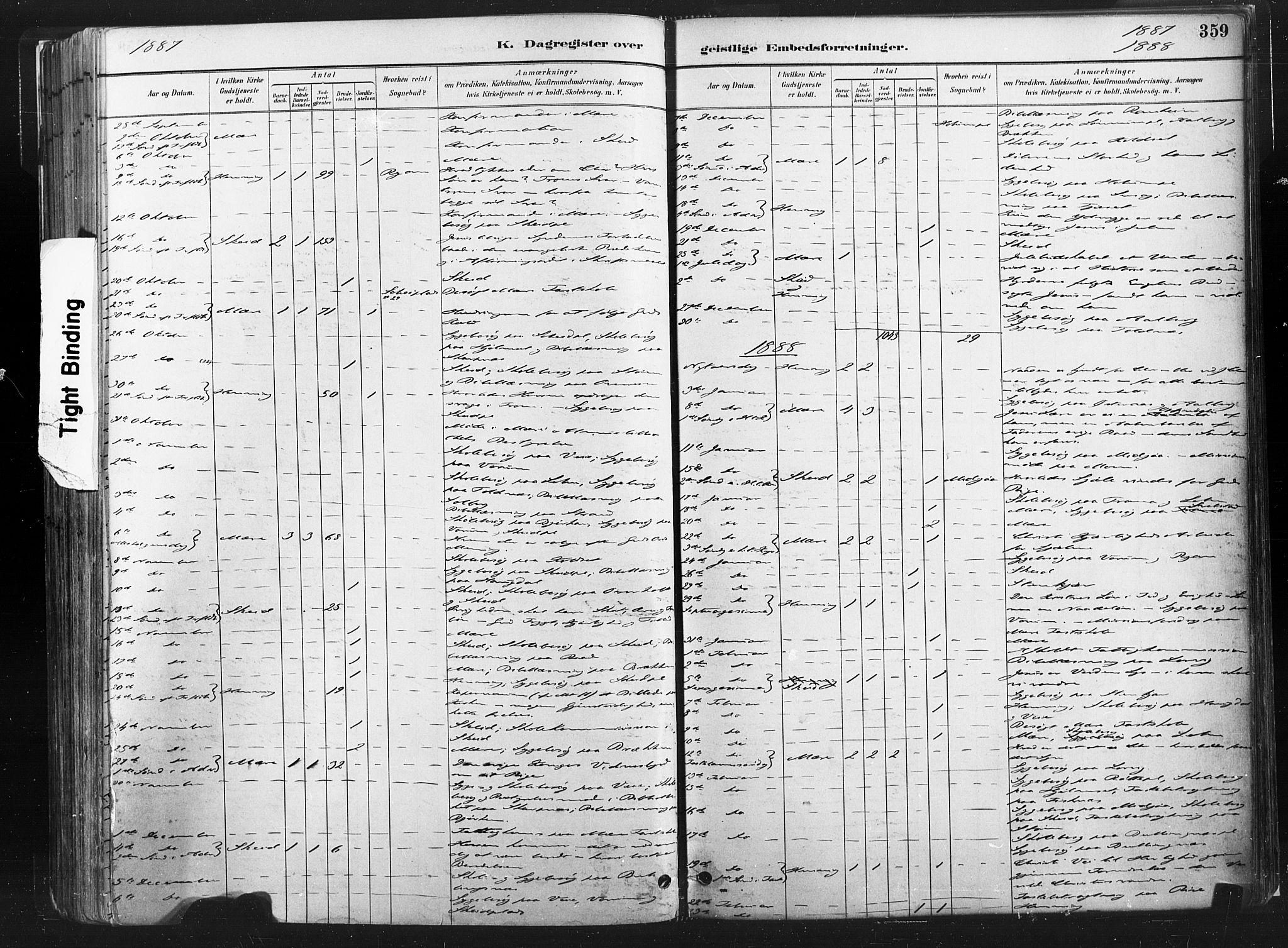 SAT, Ministerialprotokoller, klokkerbøker og fødselsregistre - Nord-Trøndelag, 735/L0351: Ministerialbok nr. 735A10, 1884-1908, s. 359