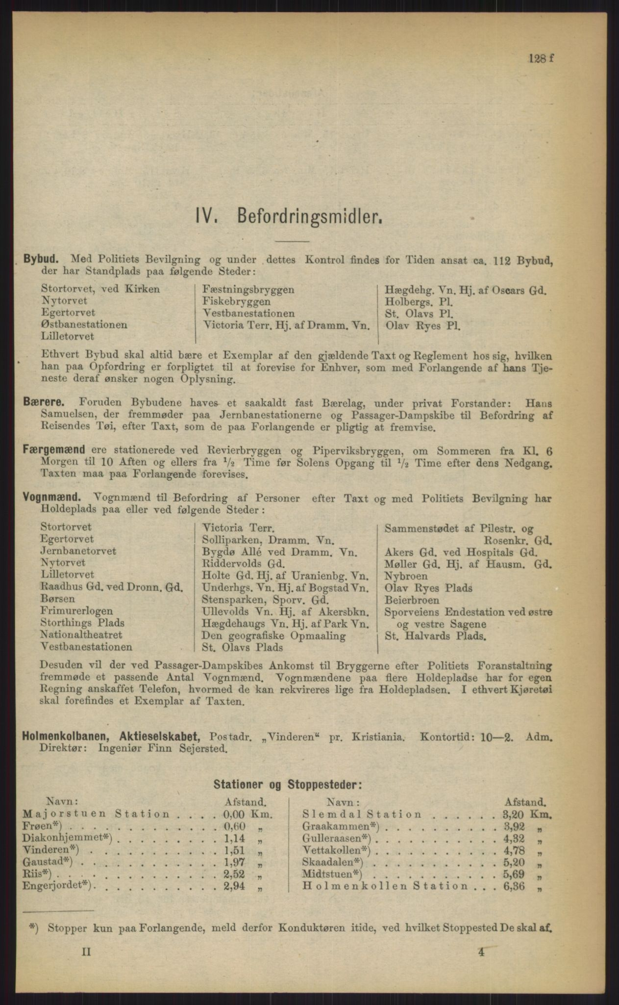 RA, Kristiania adressebok (publikasjon)*, 1903, s. 128