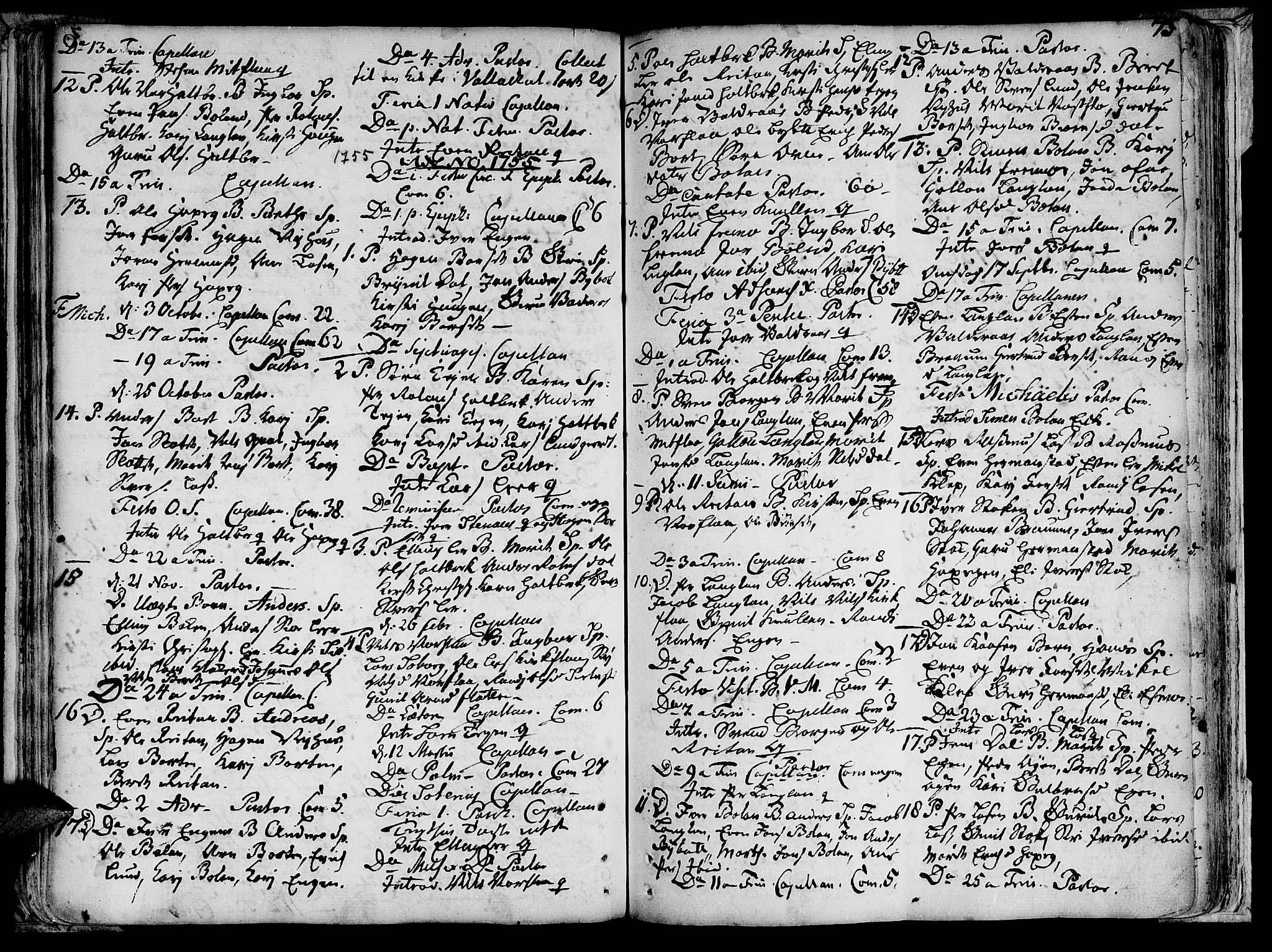 SAT, Ministerialprotokoller, klokkerbøker og fødselsregistre - Sør-Trøndelag, 691/L1058: Ministerialbok nr. 691A01 /2, 1740-1767, s. 73