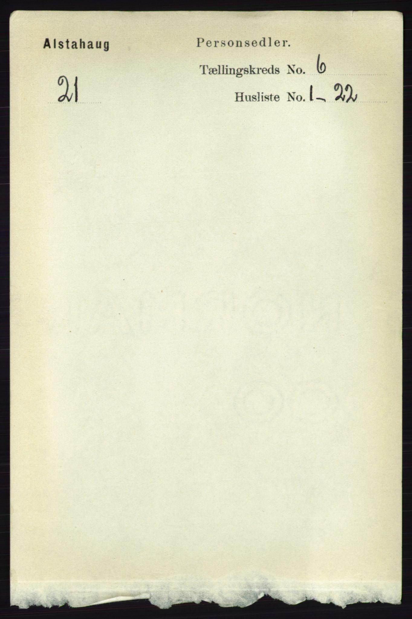 RA, Folketelling 1891 for 1820 Alstahaug herred, 1891, s. 2097