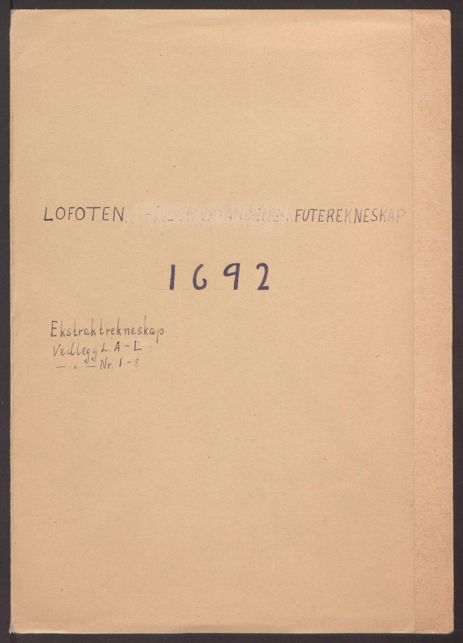 RA, Rentekammeret inntil 1814, Reviderte regnskaper, Fogderegnskap, R67/L4675: Fogderegnskap Vesterålen, Andenes og Lofoten, 1691-1693, s. 110